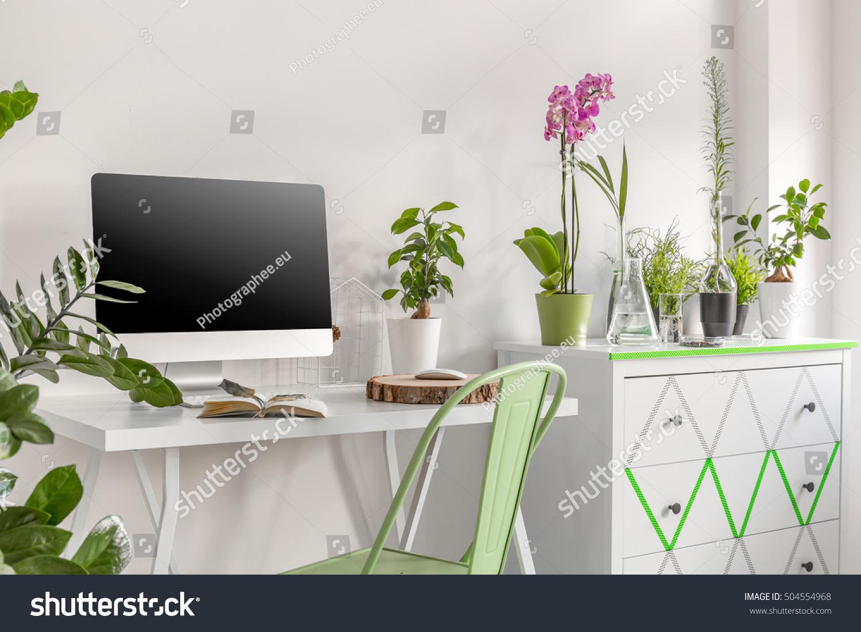 office flower pots. Home Office Area Computer Commode Flower Stock Photo 504554968 - Shutterstock Pots