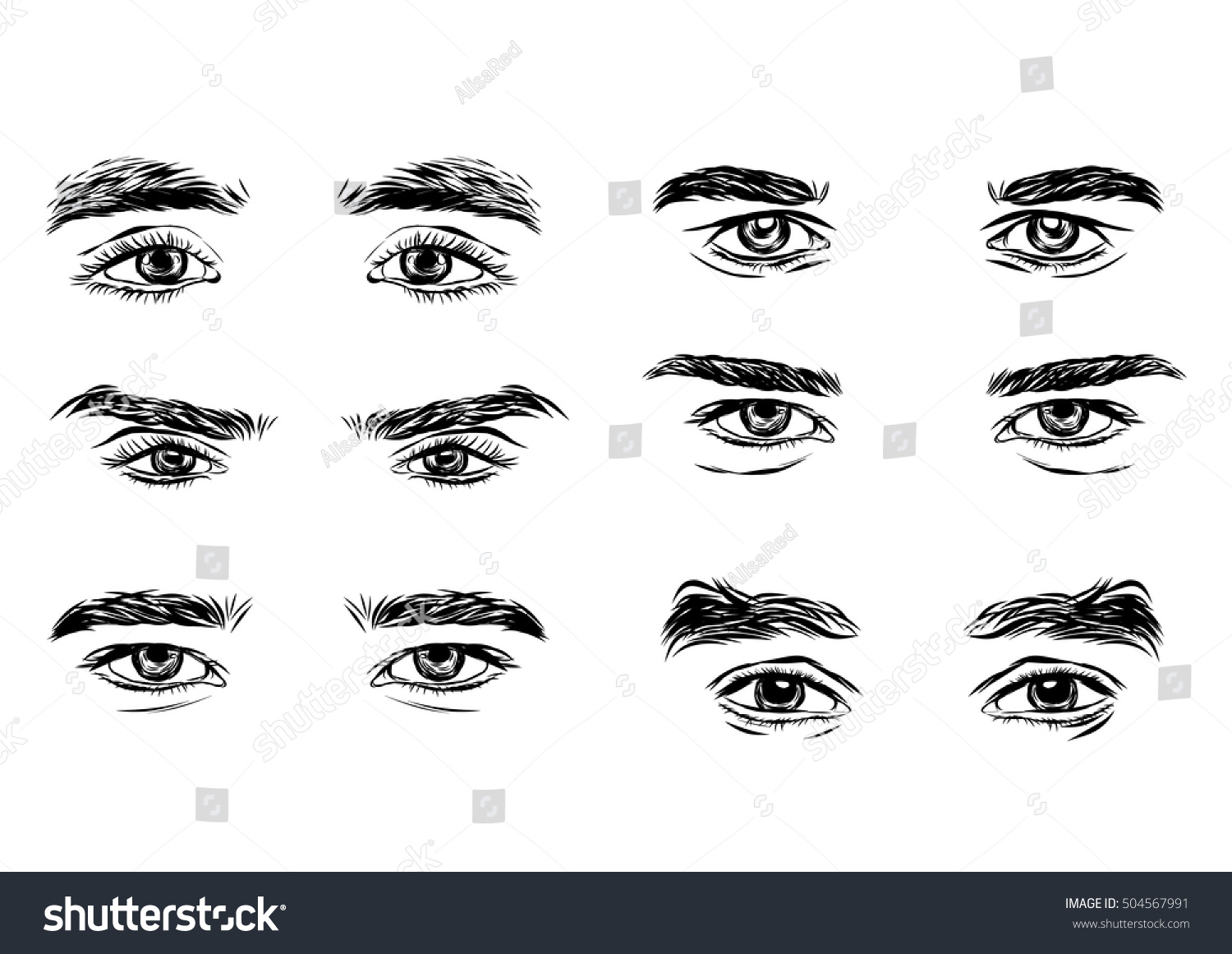 Vector Part Male Person S Eyes Stock Vector Royalty Free 504567991