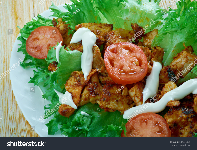 Jamaican Jerk Chicken Lettuce Wrapscaribbean Food Stock Photo Edit Now 504576961