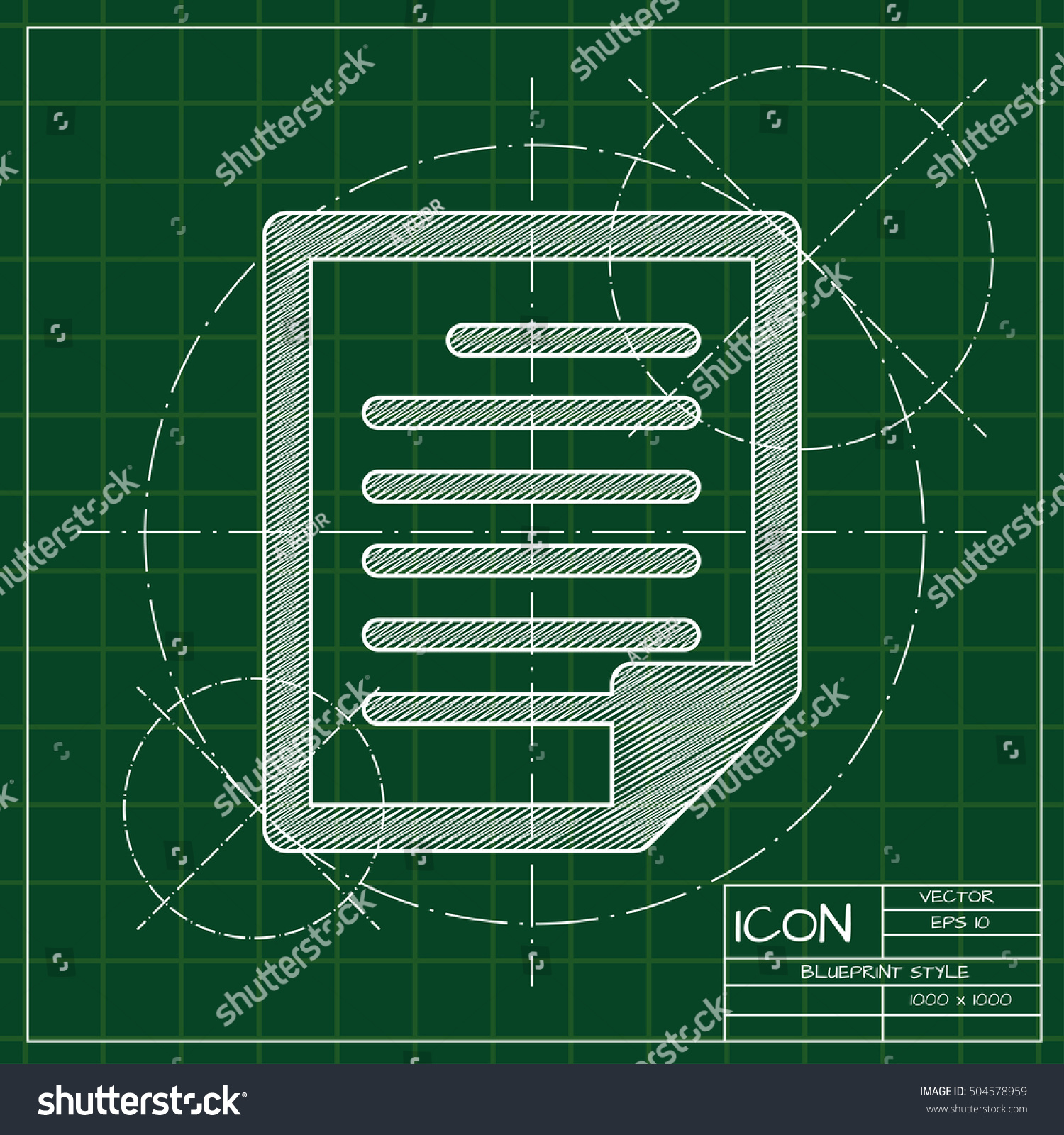 Vector blueprint document icon engineer architect stock vector 2018 vector blueprint document icon engineer and architect background malvernweather Image collections