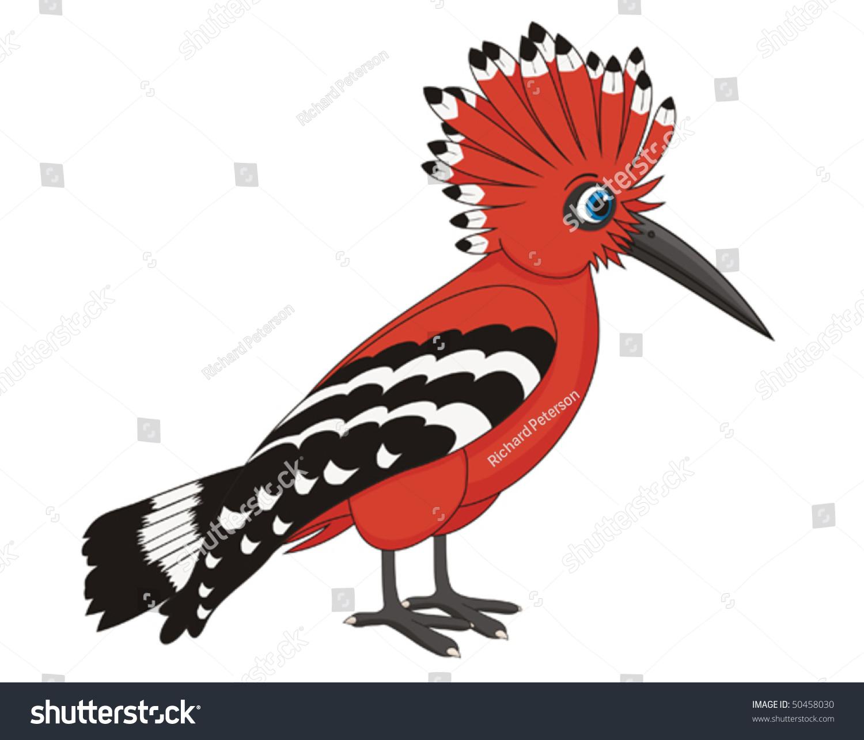 hoopoe bird cartoon vector illustration 50458030