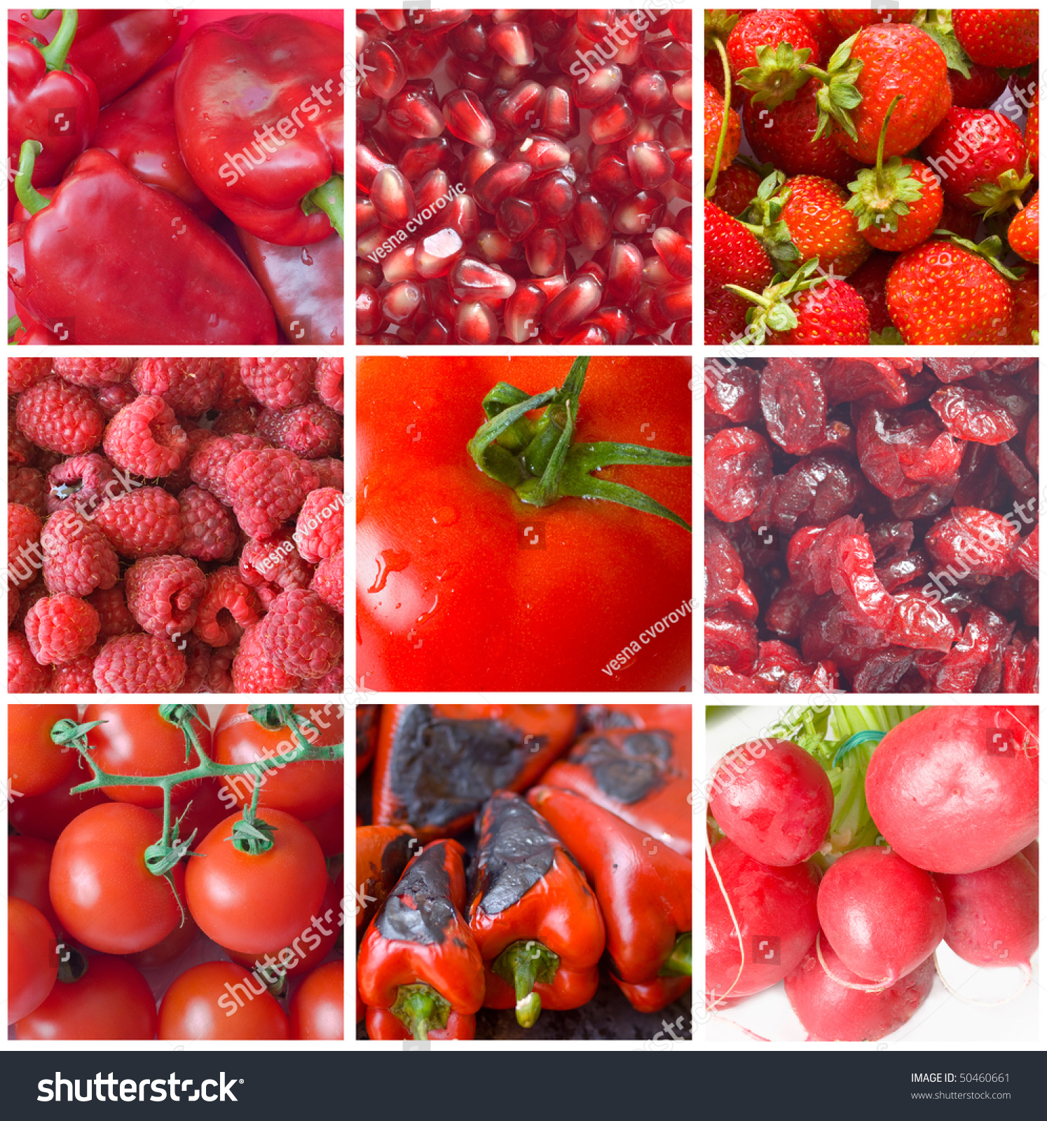 Red Fruits Vegetables Stock Photo 50460661 - Shutterstock