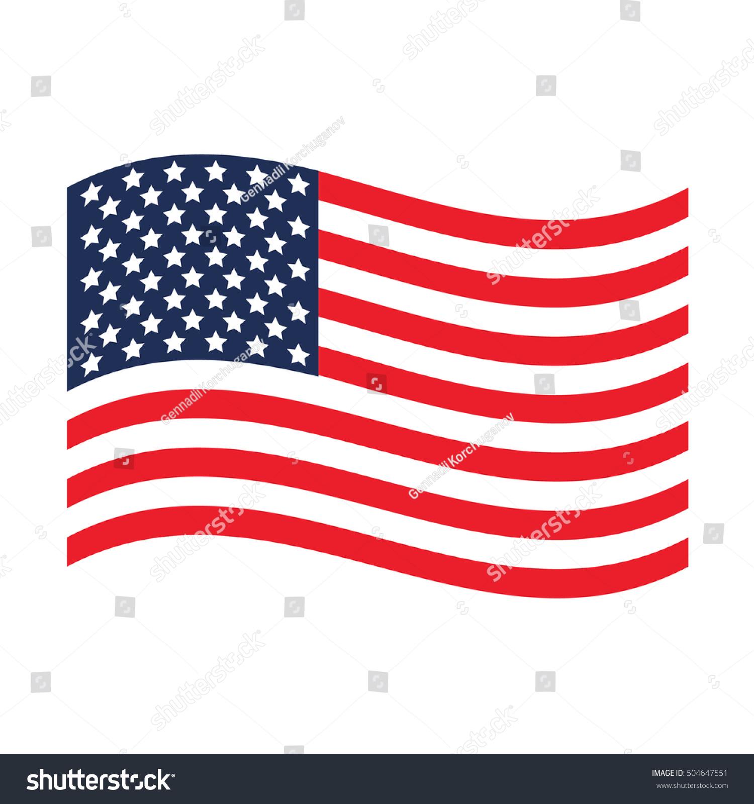 USA Flag United States America USA Stock-Vektorgrafik (Lizenzfrei ...
