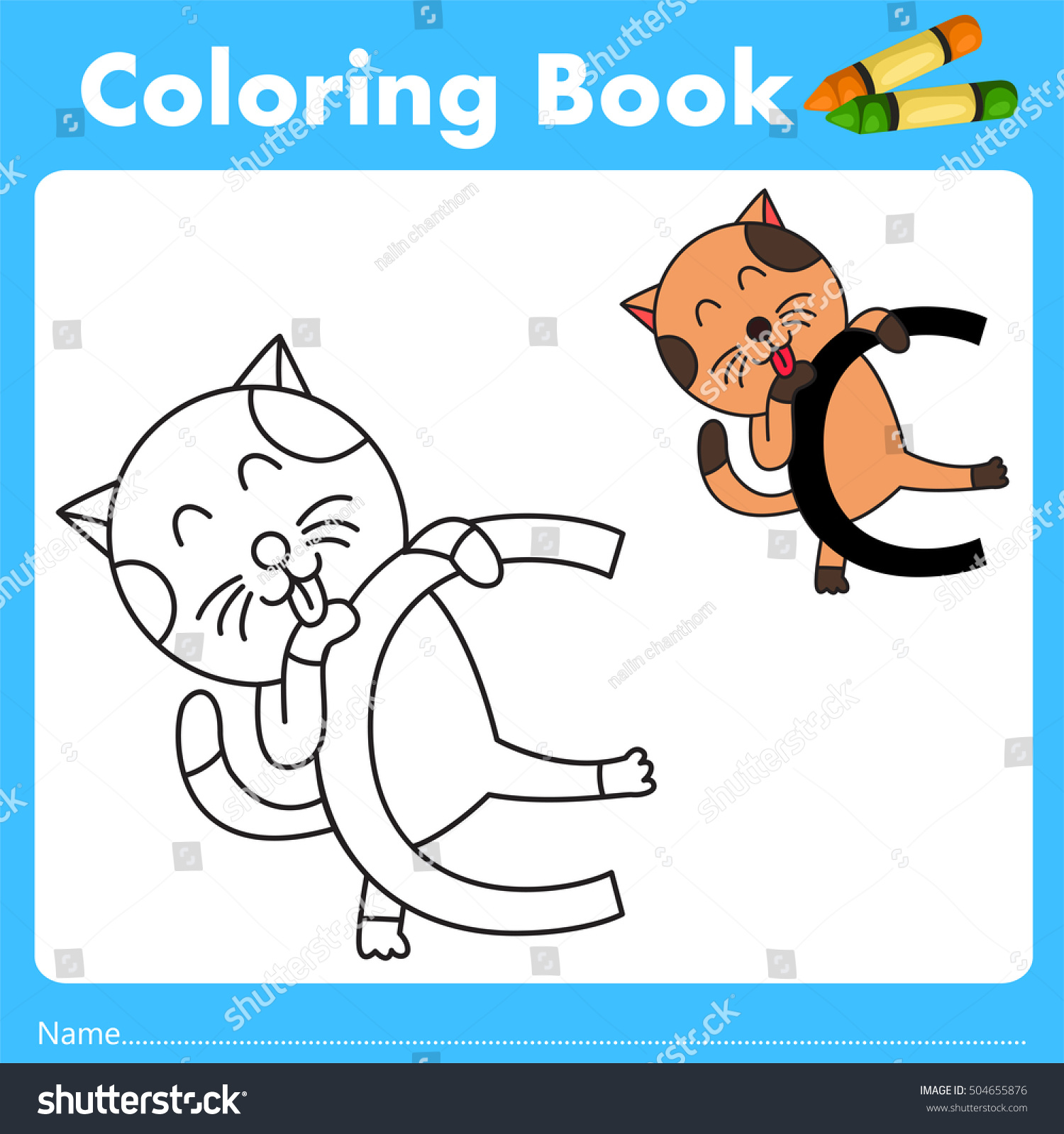 Book color illustrator - Illustrator Of Color Book With Cat Animal