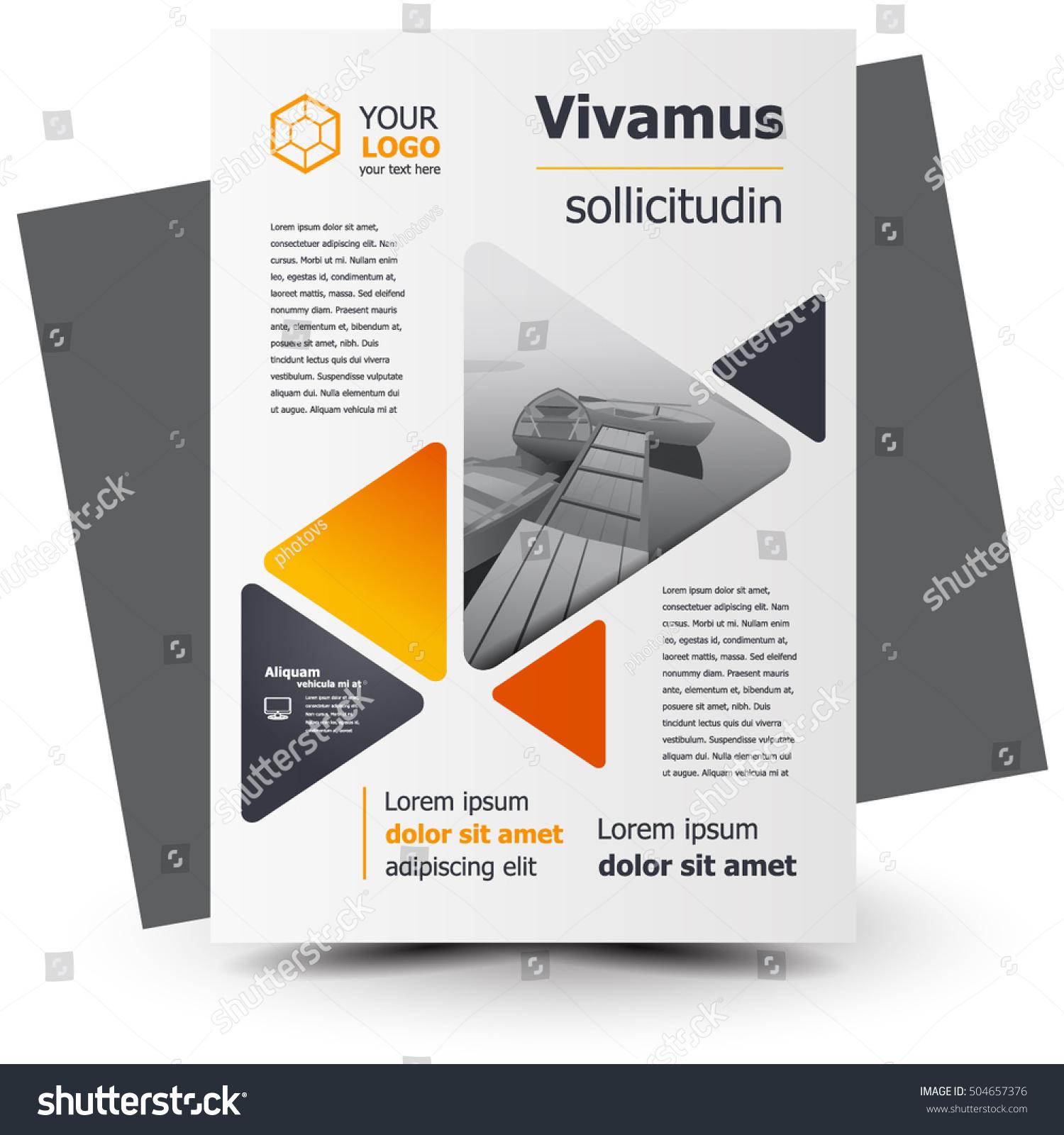 Flyer Brochure Design Business Flyer Size Stock Vector 504657376 ...