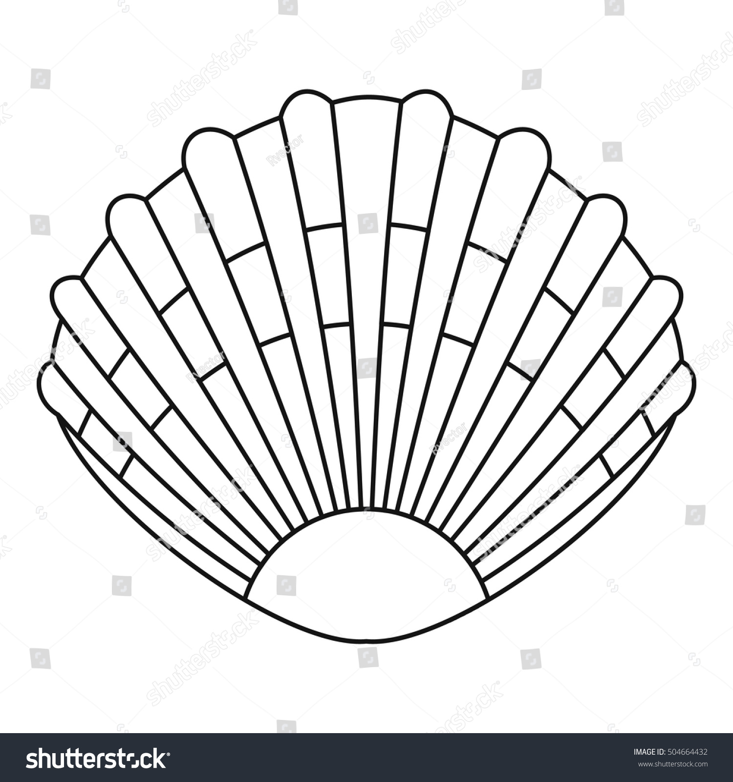 Pearl Shell Icon Outline Illustration Pearl Stock Vector ...
