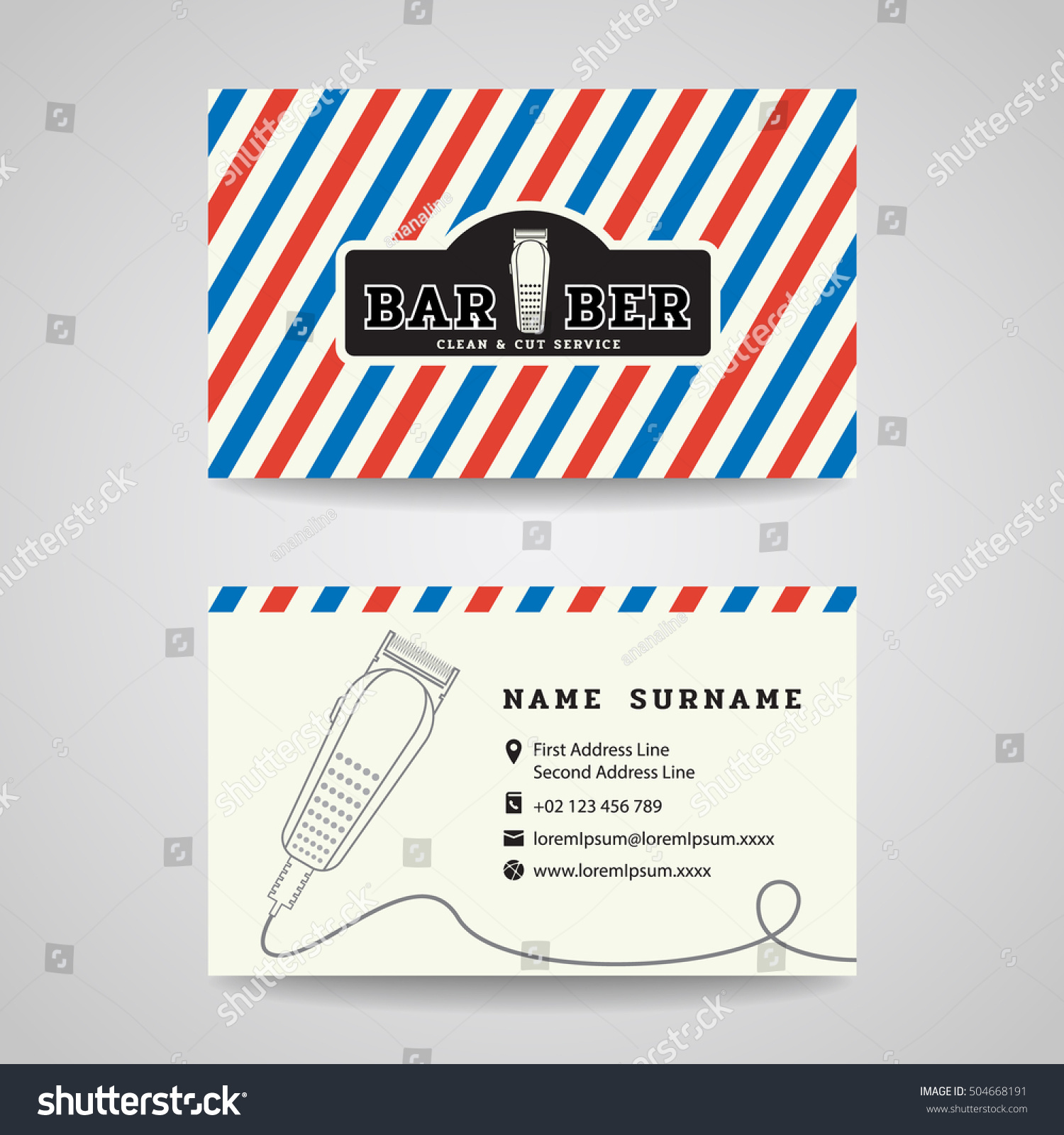 Barber business card images free business cards business card barber shop hair clippers stock vector 504668191 business card barber shop and hair clippers magicingreecefo Images