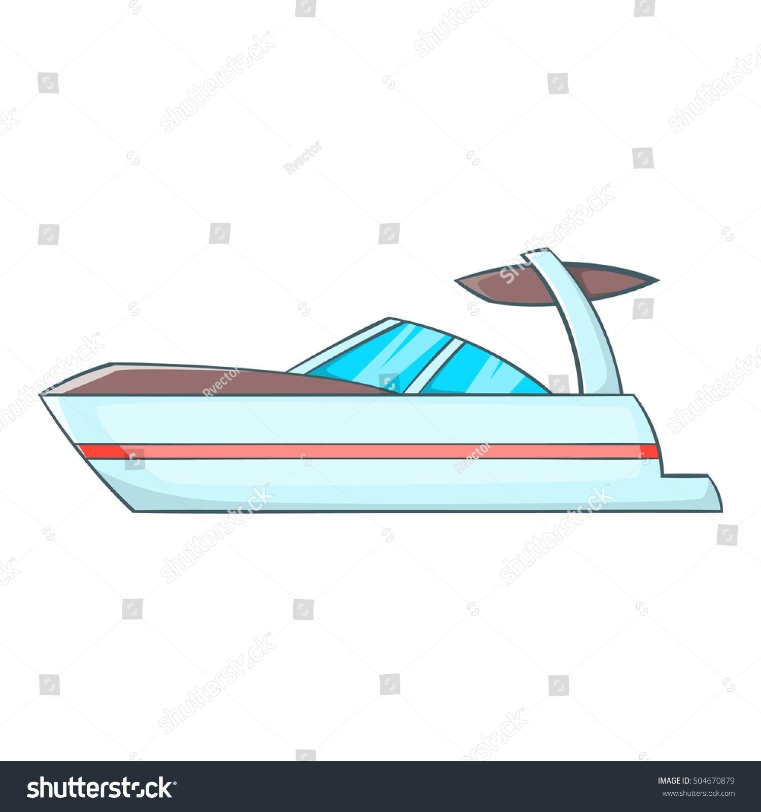 sailing boat icon cartoon illustration sailing stock vector