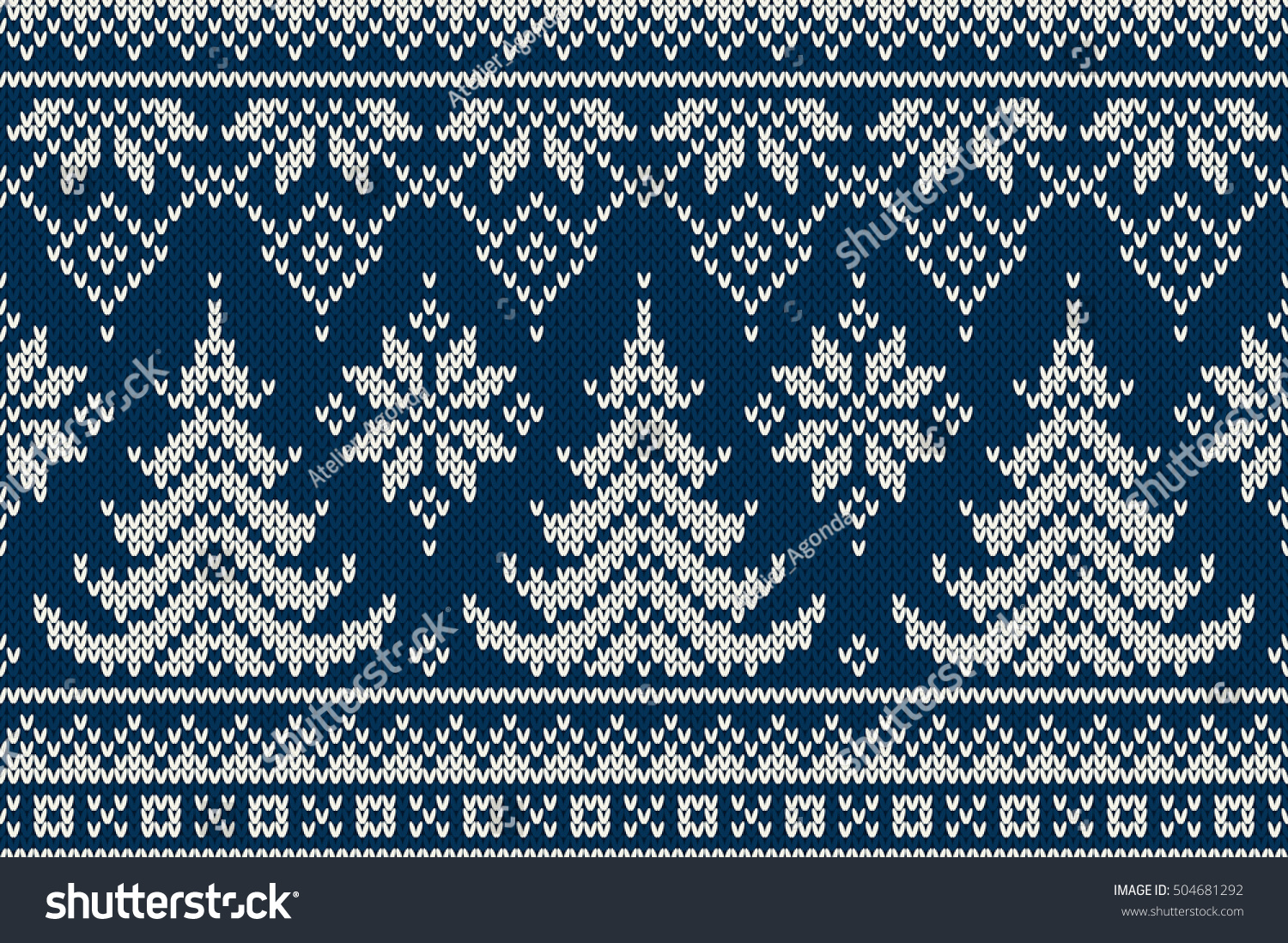 Winter Holiday Seamless Knitting Pattern Christmas Stock Vector HD ...