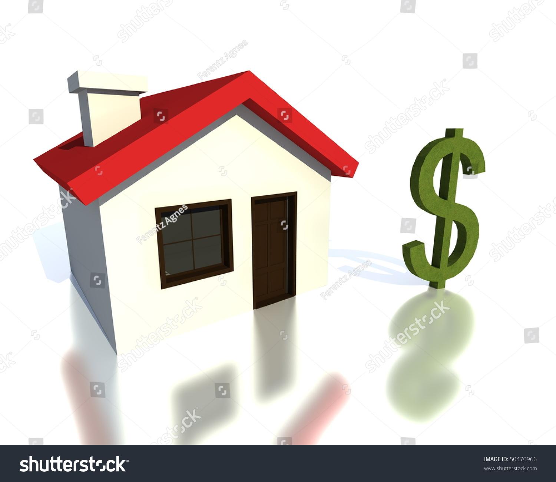 Little House Money Symbol Stock Illustration 50470966 Shutterstock