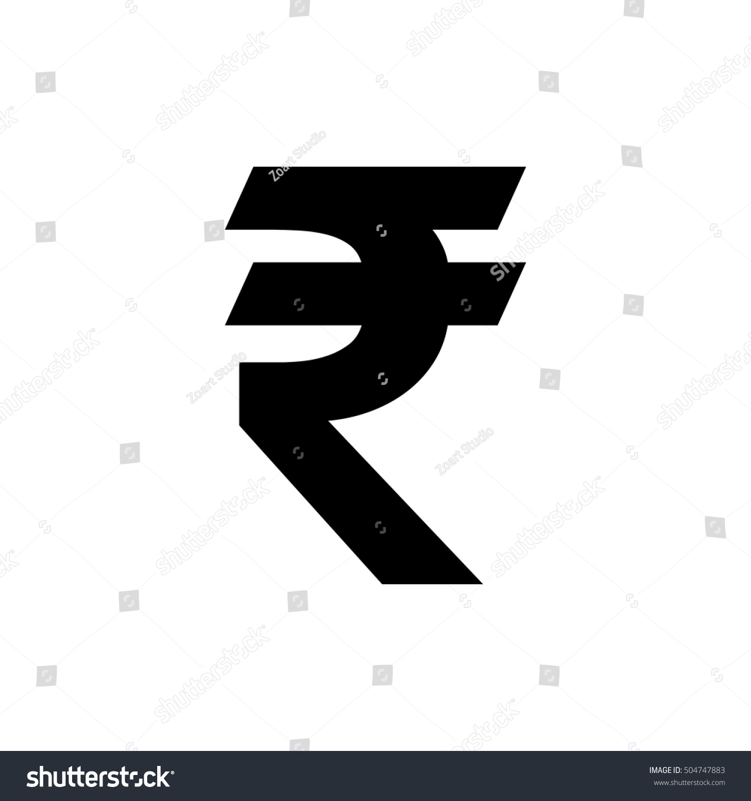Indian Rupee Icon Vector Symbol Indian Stock Vector Royalty Free