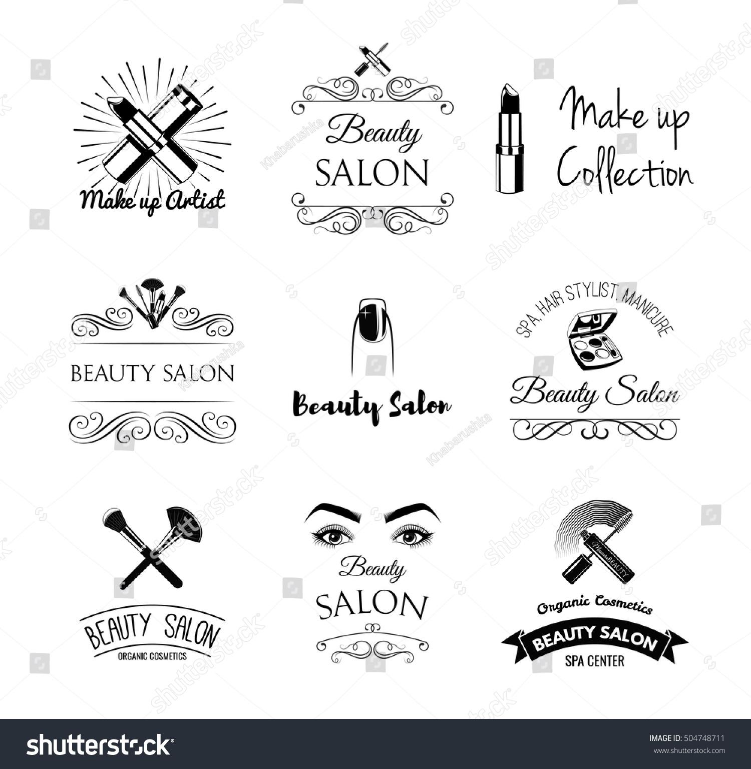 Beauty salon design elements vintage style stock vector for 4 elements salon