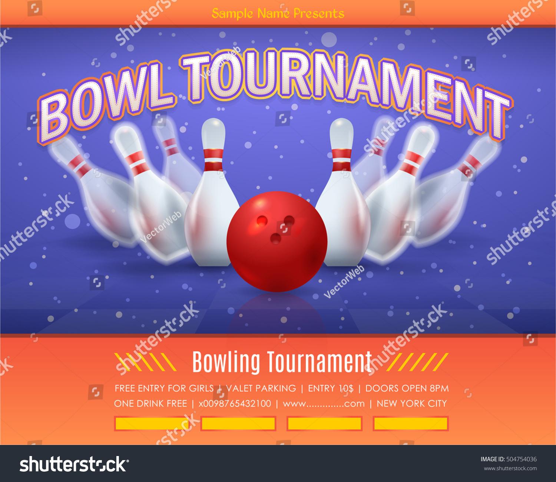 Bowling Event Flyer Template Keninamas