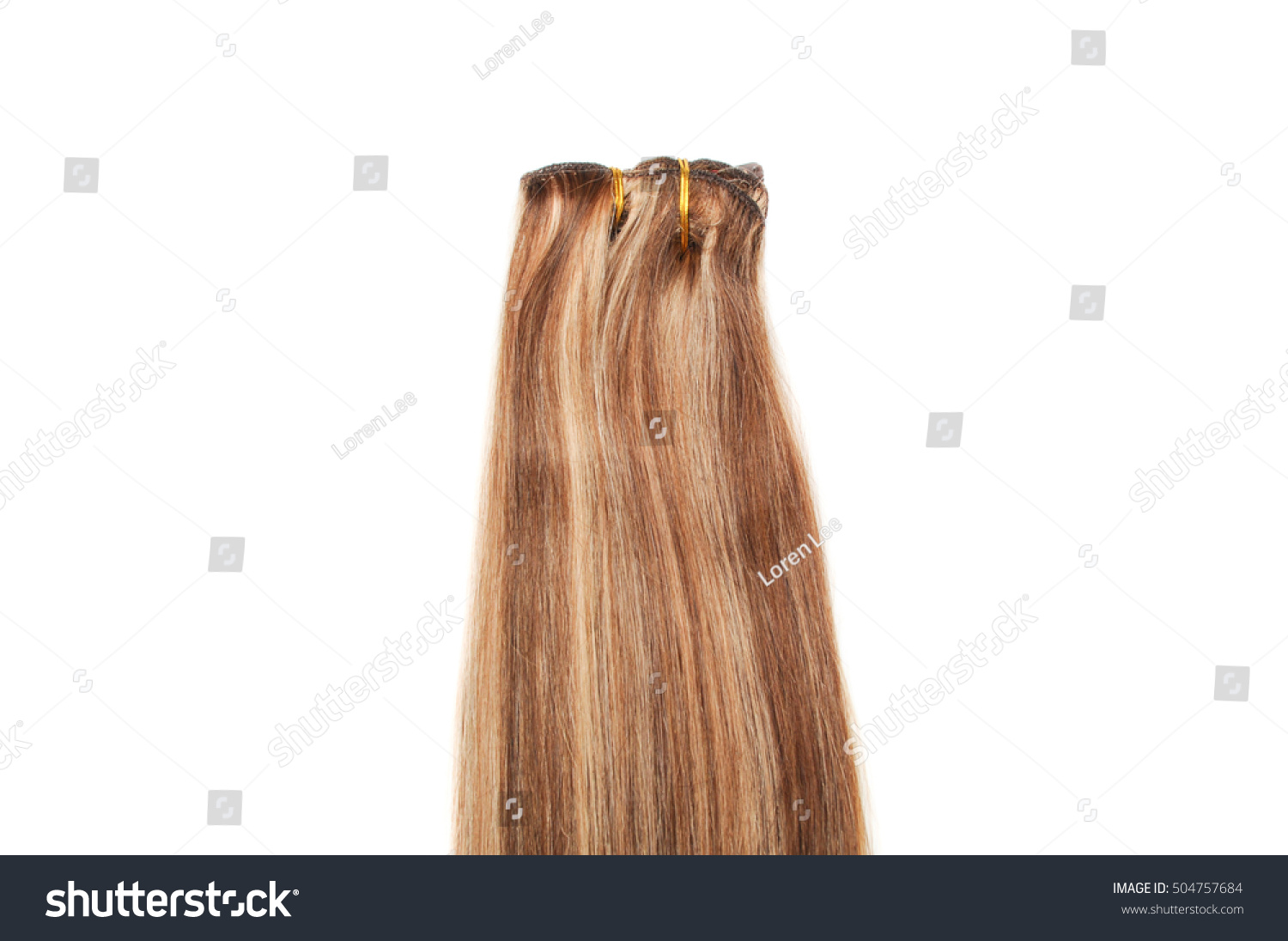 Clip Straight Medium Brown Hair Mix Stock Photo Edit Now 504757684