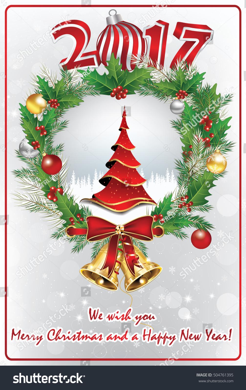Elegant Christmas New Year Greeting Card Stock Illustration