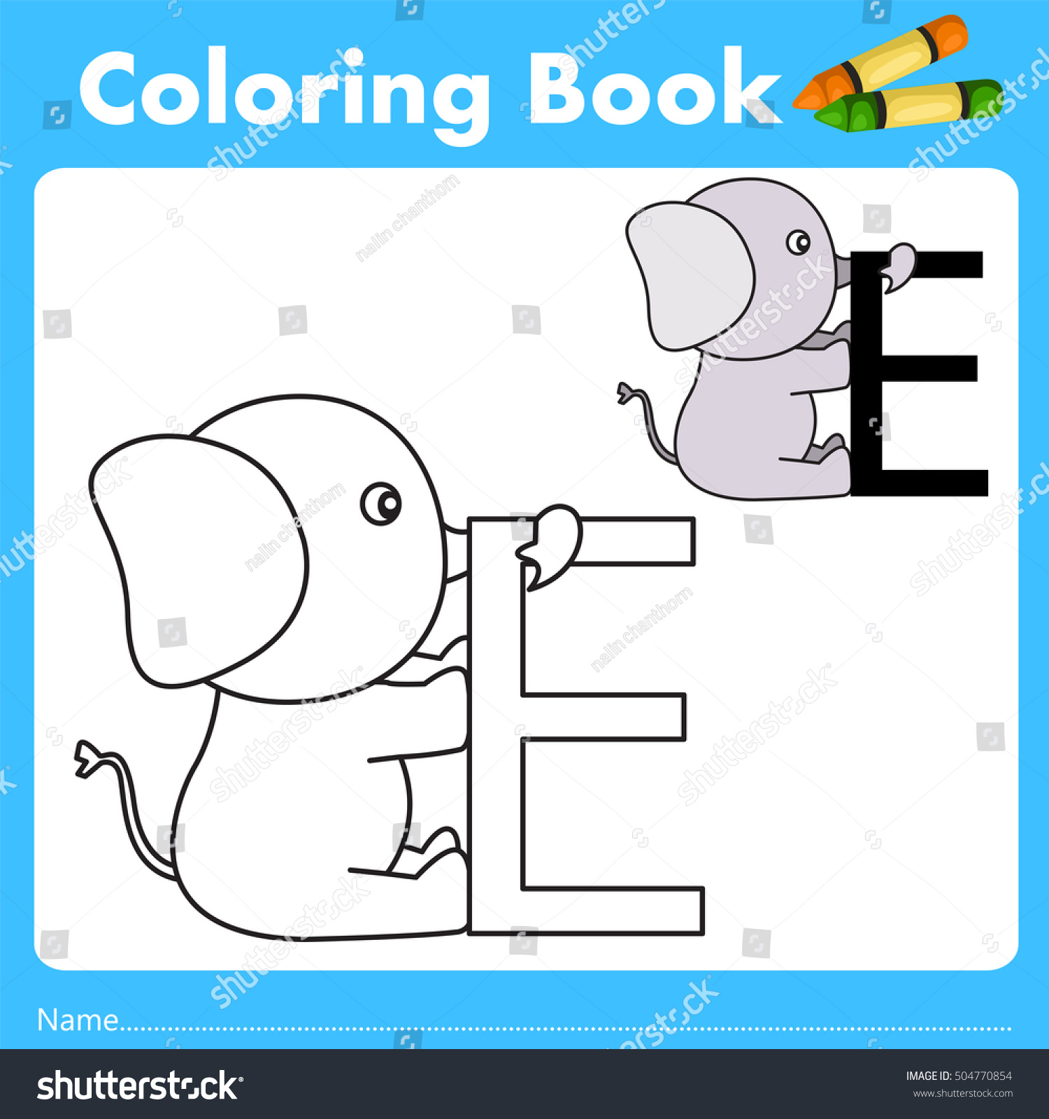Book color illustrator - Illustrator Of Color Book With Elephant Animal