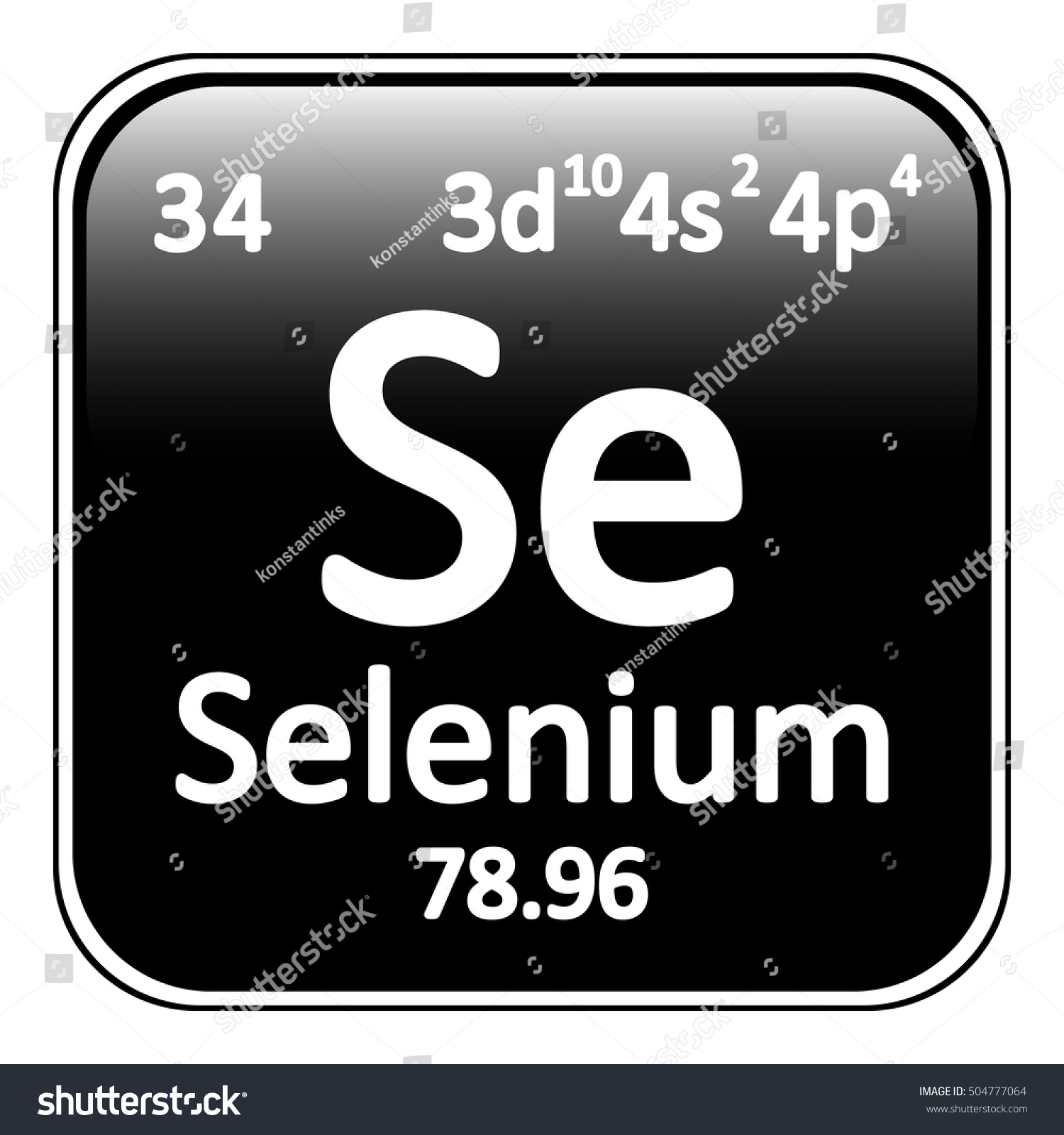 Periodic table element selenium icon on stock vector 504777064 periodic table element selenium icon on white background vector illustration gamestrikefo Images