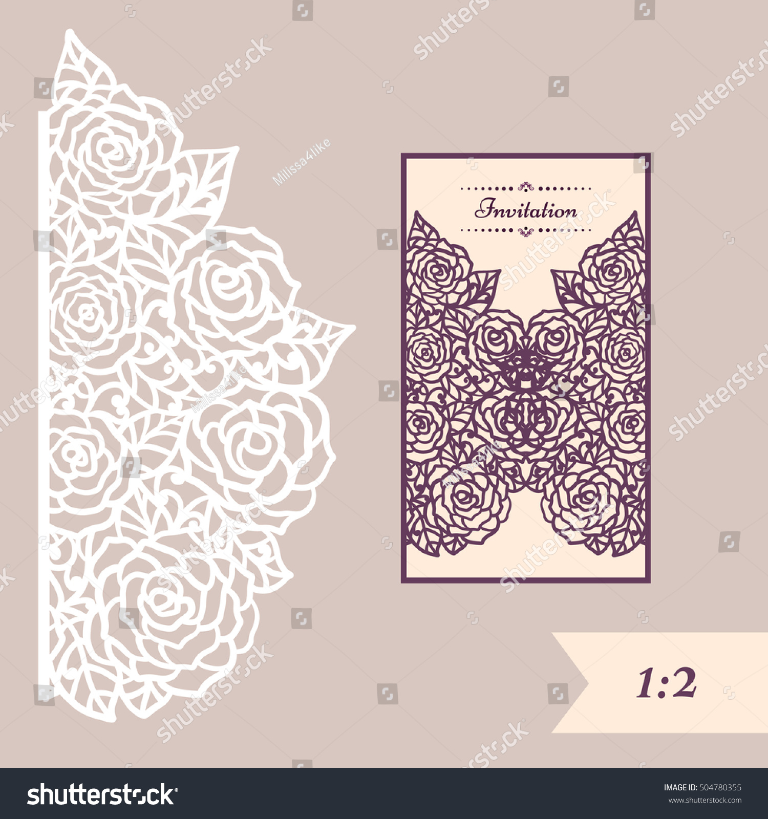 Wedding invitation greeting card abstract ornament stock vector hd wedding invitation or greeting card with abstract ornament vector envelope template for laser cutting stopboris Image collections