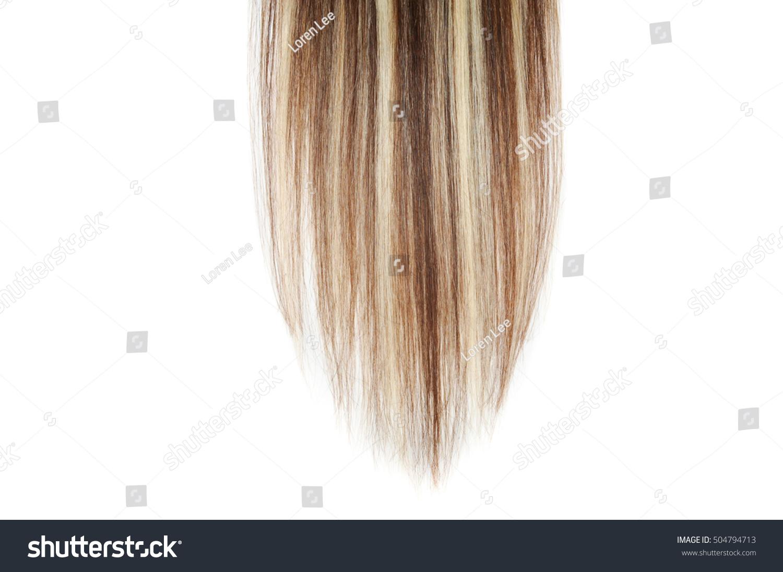 Clip Straight Dark Brown Mix Blonde Stock Photo Edit Now 504794713
