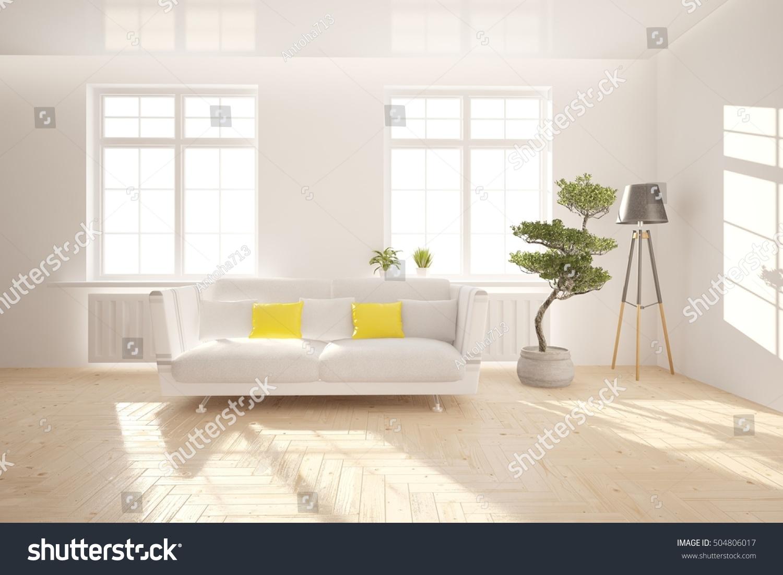 White Interior Design Living Room Scandinavian Stock Illustration 504806017 Shutterstock