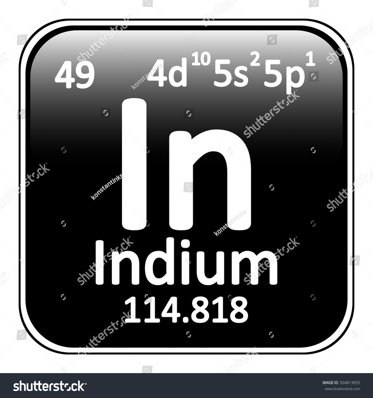Indium on the periodic table image collections periodic table images periodic table element indium icon on stock vector 504813055 periodic table element indium icon on white gamestrikefo Image collections