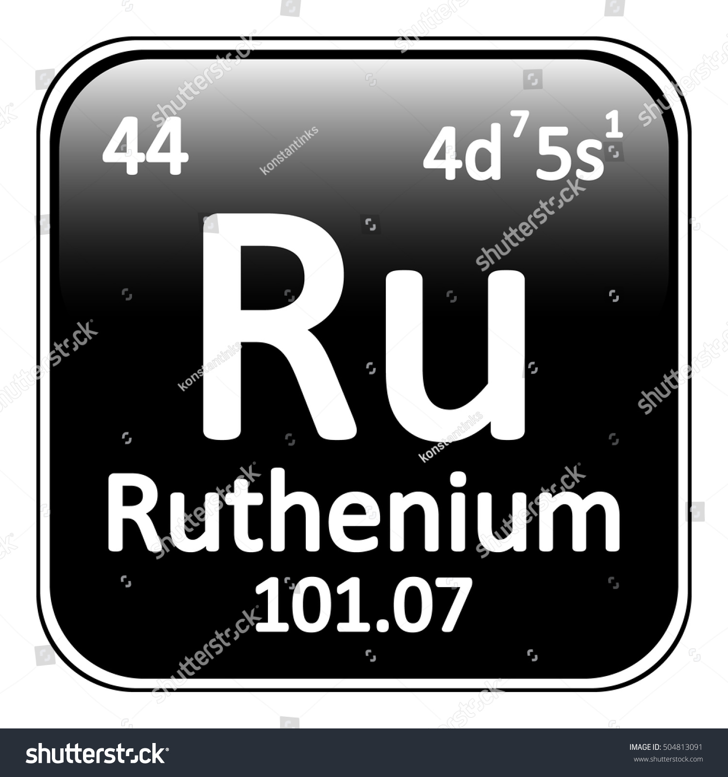 Periodic table element ruthenium icon on stock vector 504813091 periodic table element ruthenium icon on white background vector illustration gamestrikefo Choice Image