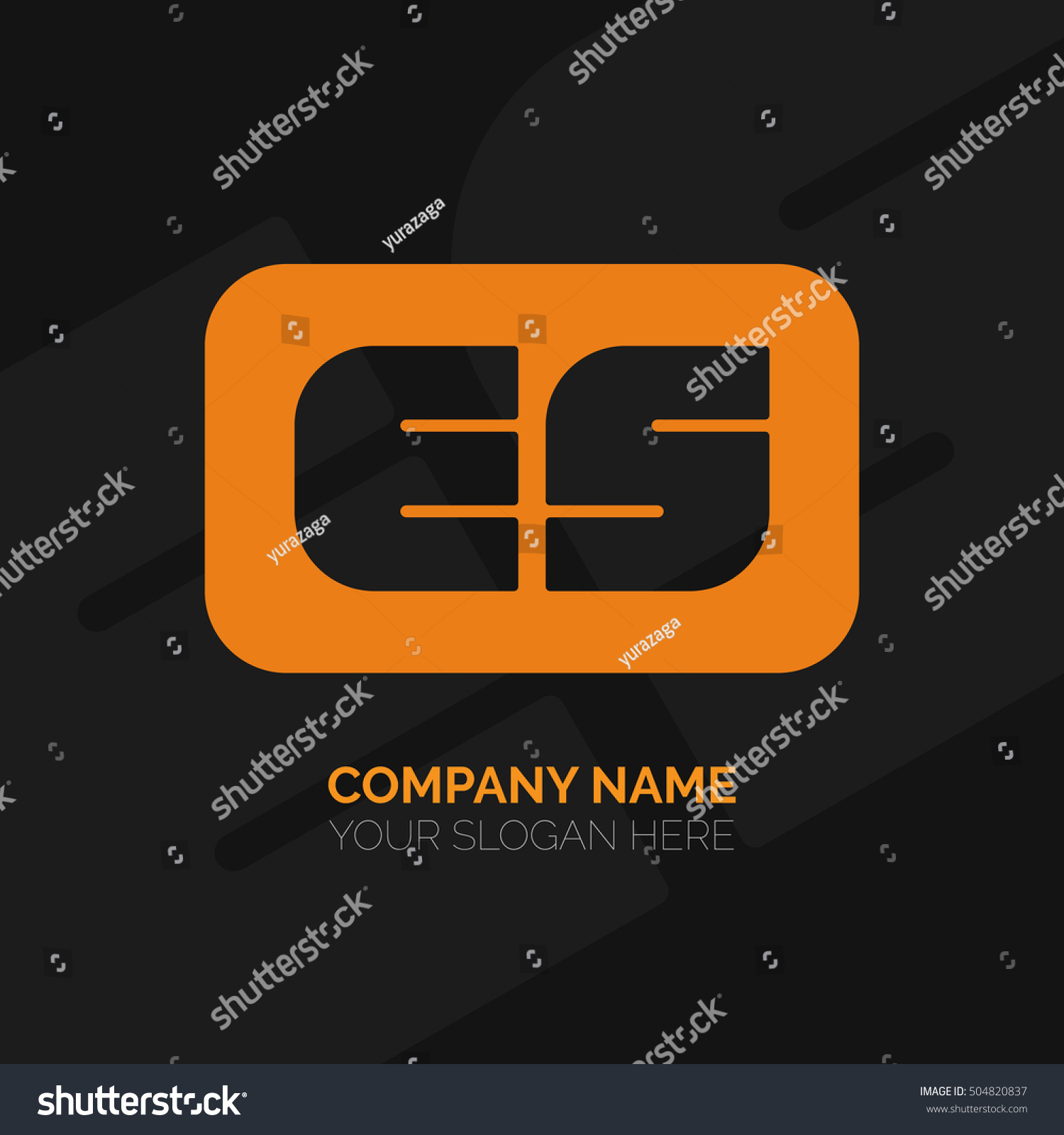 Creative E S Letter Vector Logo Stock Vector Royalty Free