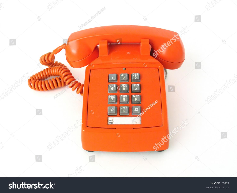 vintage orange telephone stock photo 50483 shutterstock. Black Bedroom Furniture Sets. Home Design Ideas