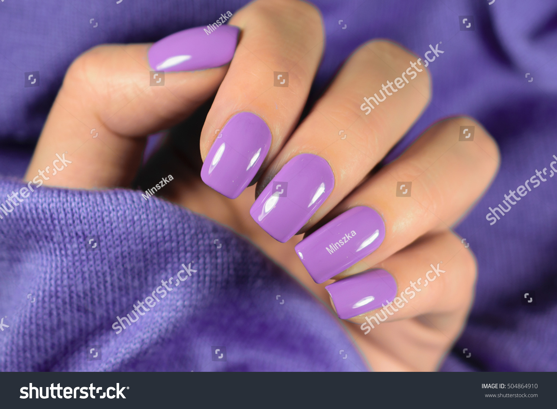 Manicured Nails Nail Polish Art Design Stock Photo (Royalty Free ...
