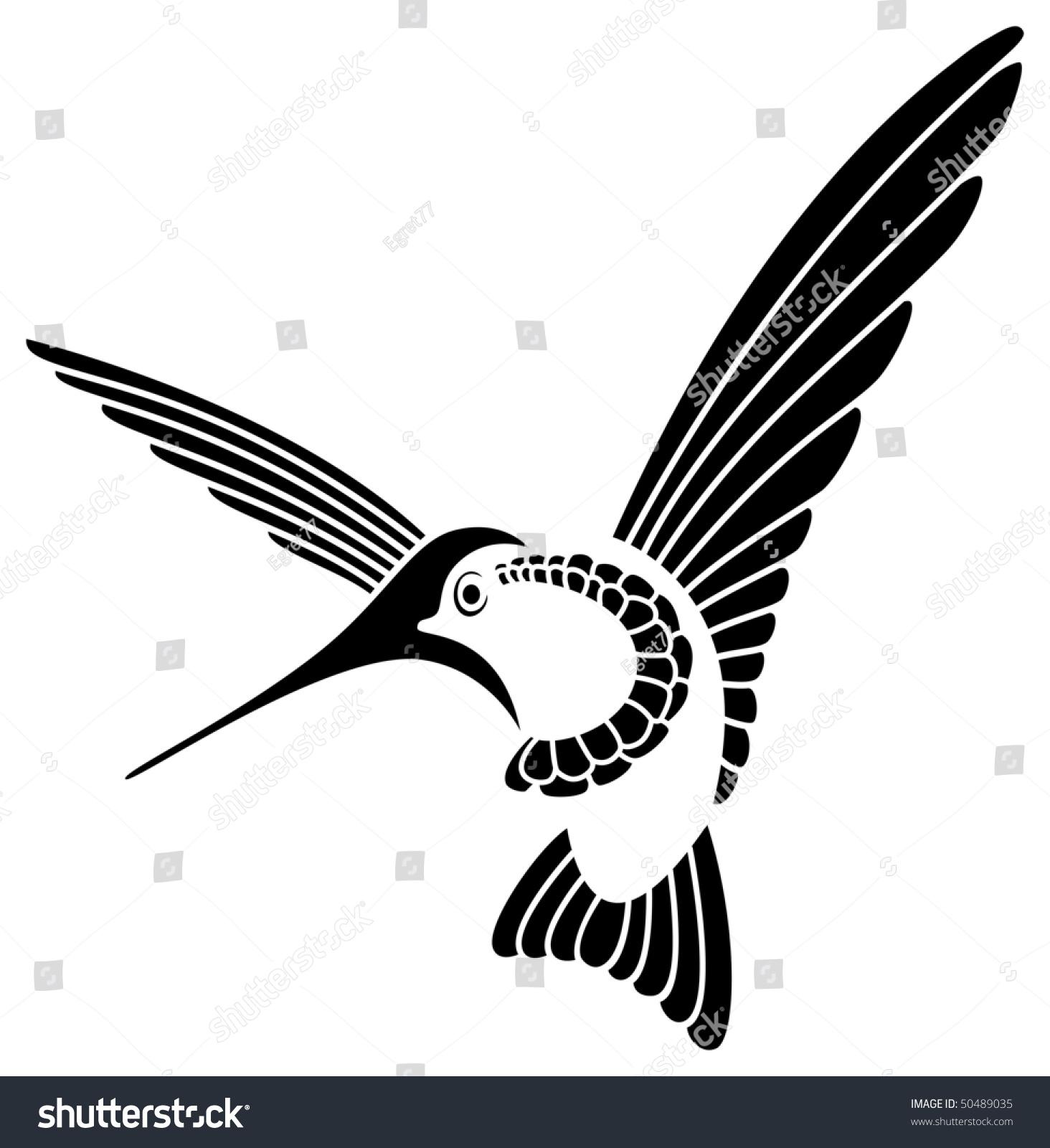 Stylized hummingbird stock vector 50489035 shutterstock stylized hummingbird biocorpaavc Images