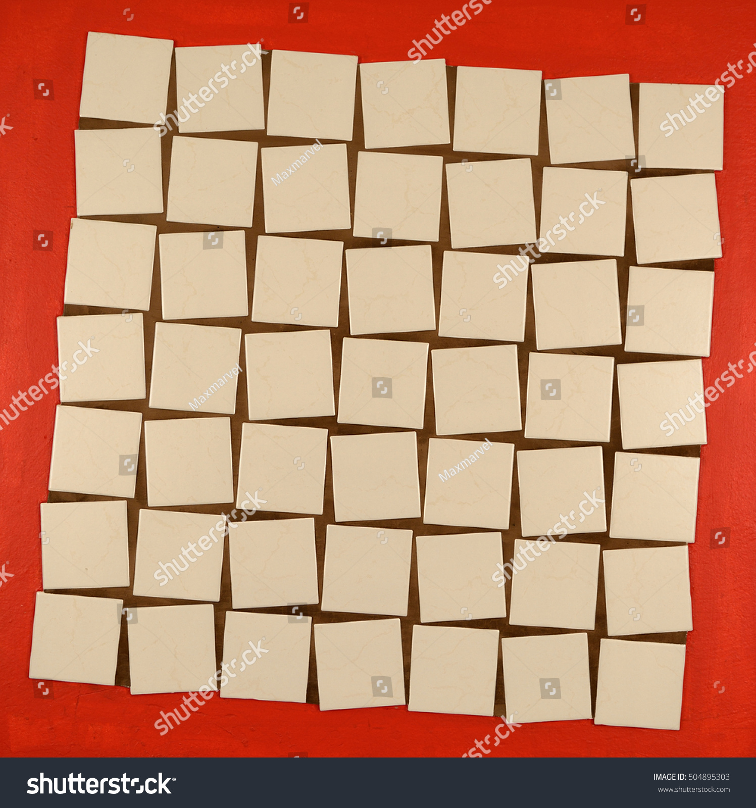 One ways lay out ceramic tiles stock photo 504895303 shutterstock one of the ways to lay out ceramic tiles using figured tile spacers dailygadgetfo Images