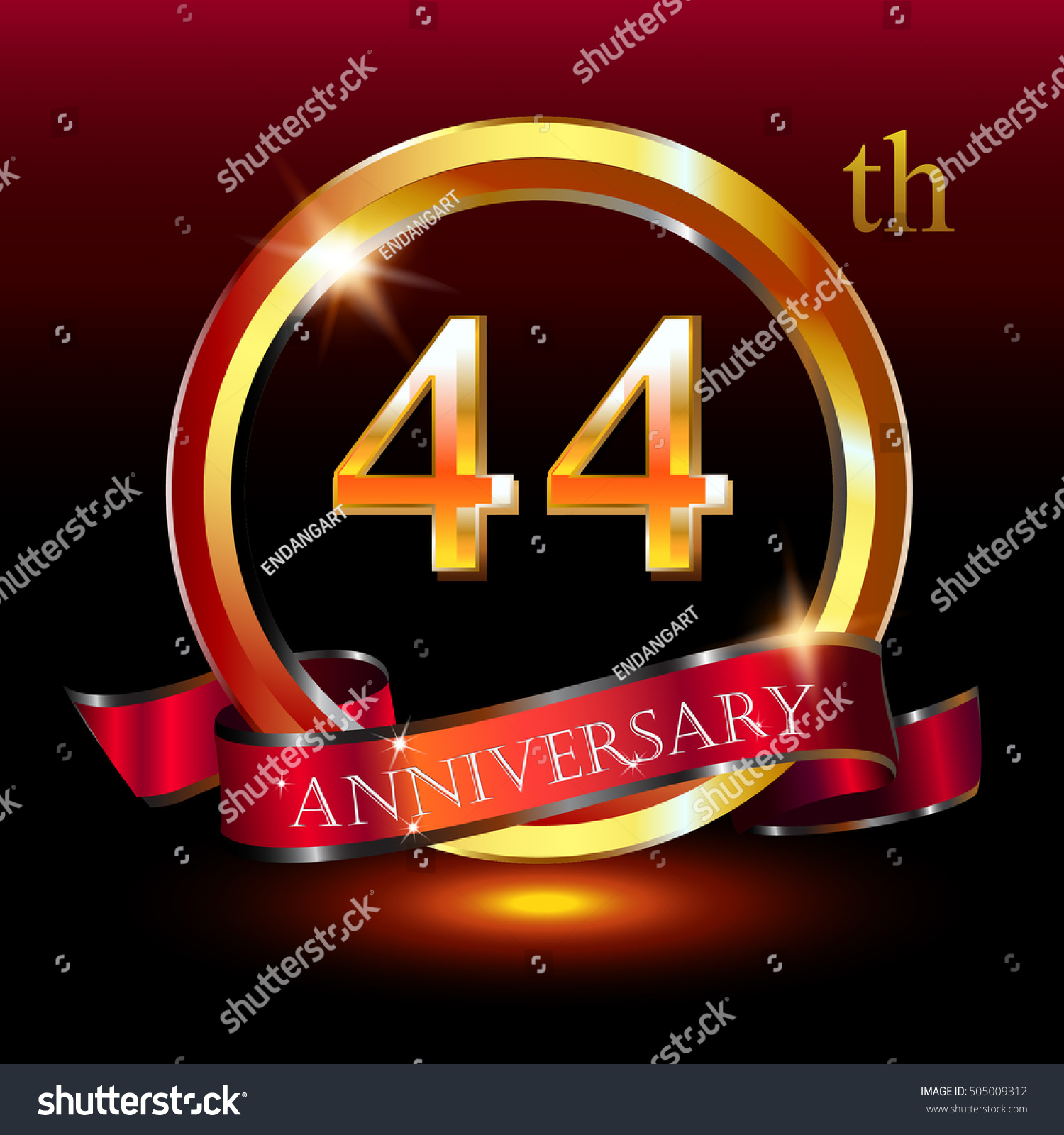 44th golden anniversary logo 44 years stock vector 505009312 44th golden anniversary logo 44 years anniversary celebration with ring and ribbon biocorpaavc Gallery