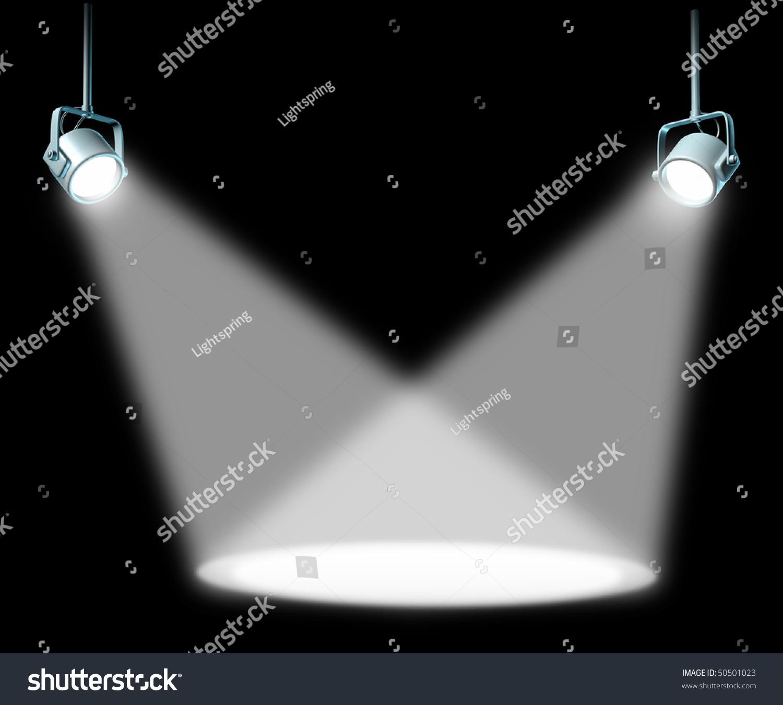 Black Spotlight Background