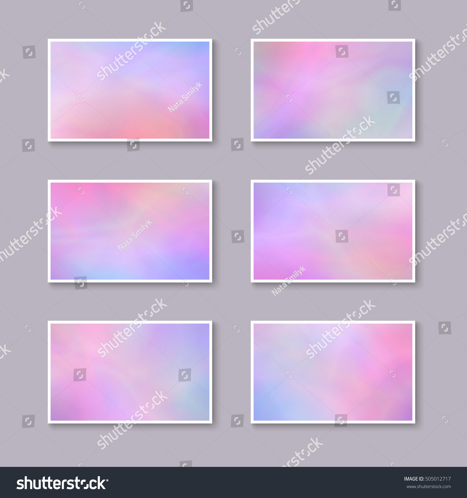 Set Pastel Pink Purple Business Cards templates Stock Vector ...