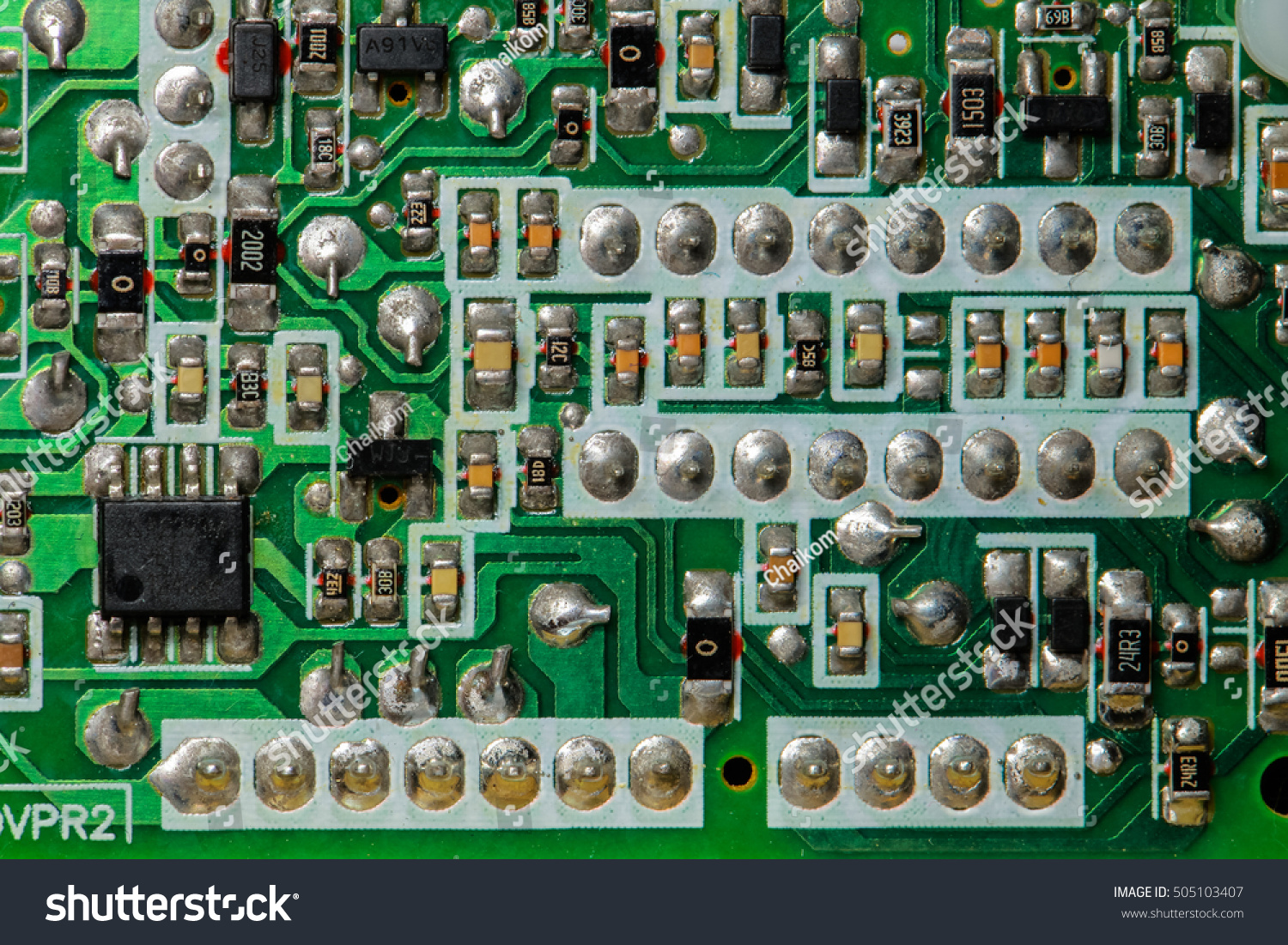 Closeup Electronic Circuit Board Processor Background Stock Photo Games Close Up Of With