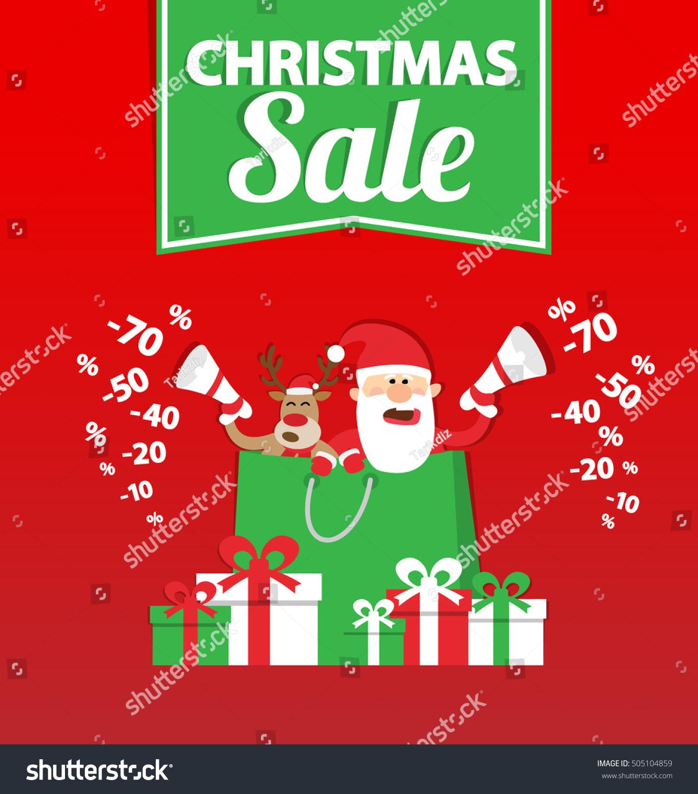 Christmas Sale Banner Design Santa Claus Stock Photo (Photo, Vector ...