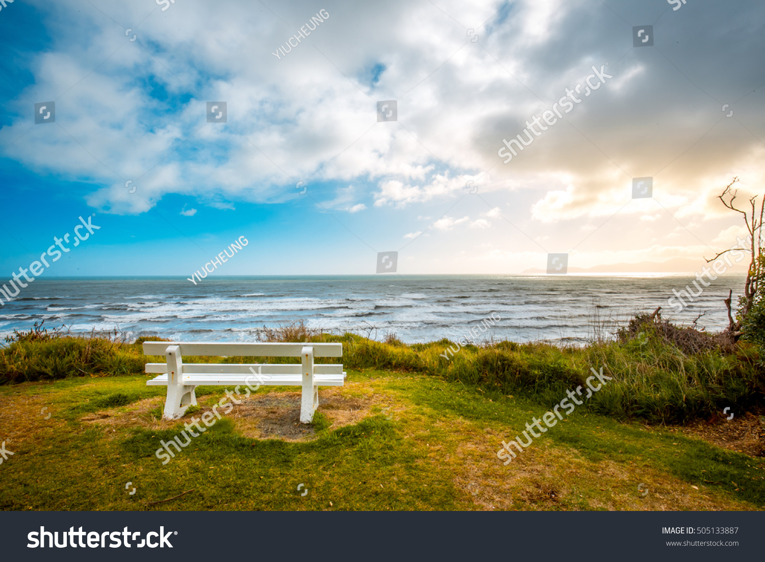 beautiful waikawa beach scenes paekakariki wellington stock photo