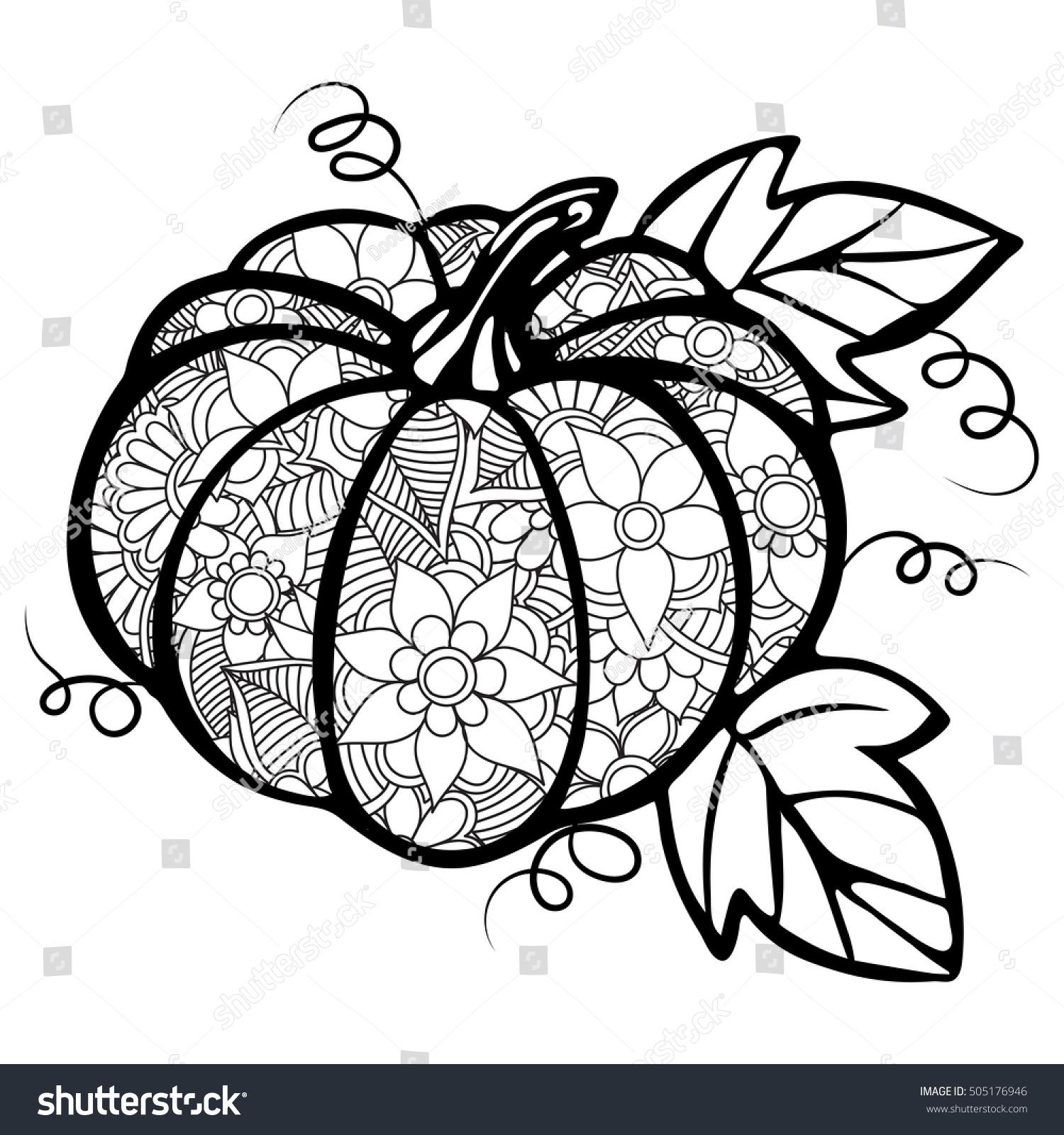 Zentangle Abstract Pumpkin Zentangle Flowers Zentangle Stock Vector ...