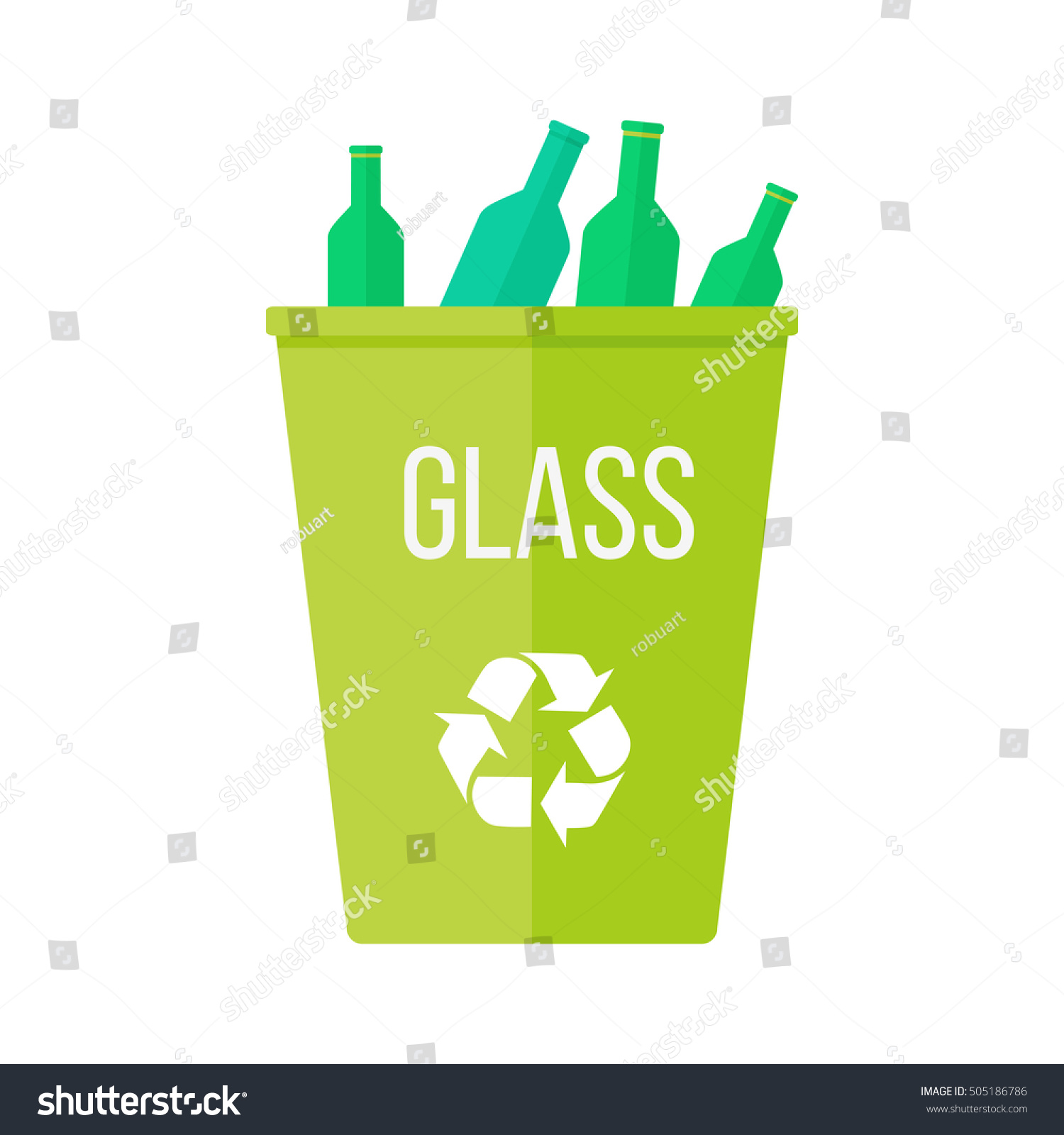 Green recycle garbage bin glass reuse stock illustration for Reuse glass