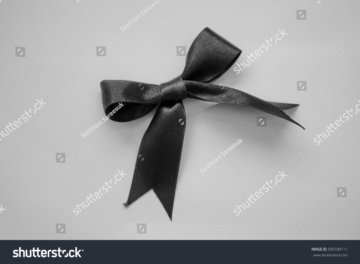 Royalty Free Black Ribbon Bow Symbolic Logo Raising 505189111
