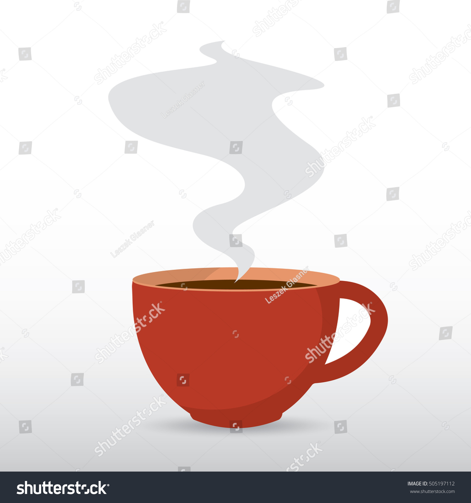 Coffee cup steam vector flat design stock vector 505197112 shutterstock - Object design eigentijds ontwerp ...