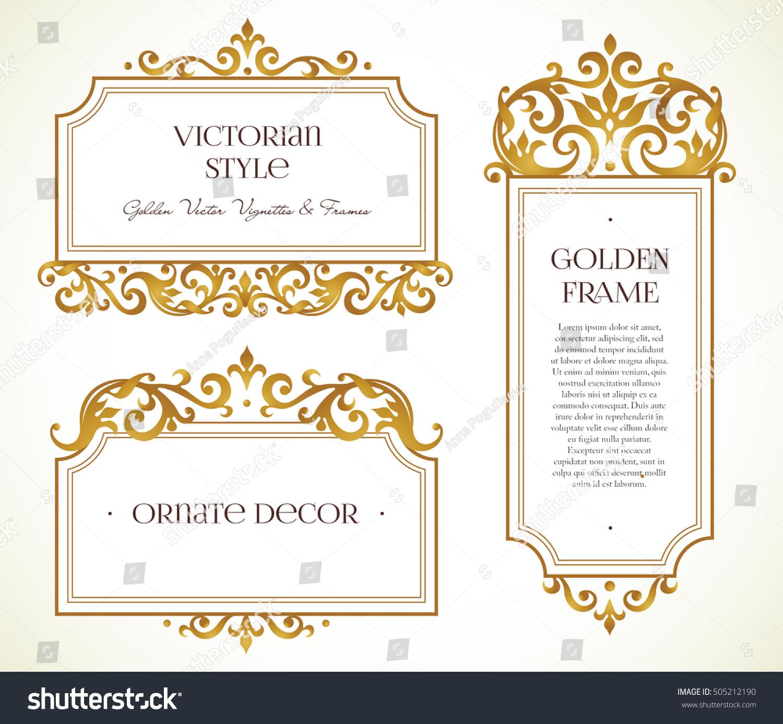 Vector Set Frames Vignette Design Template Stock Vector 505212190 Shutterstock