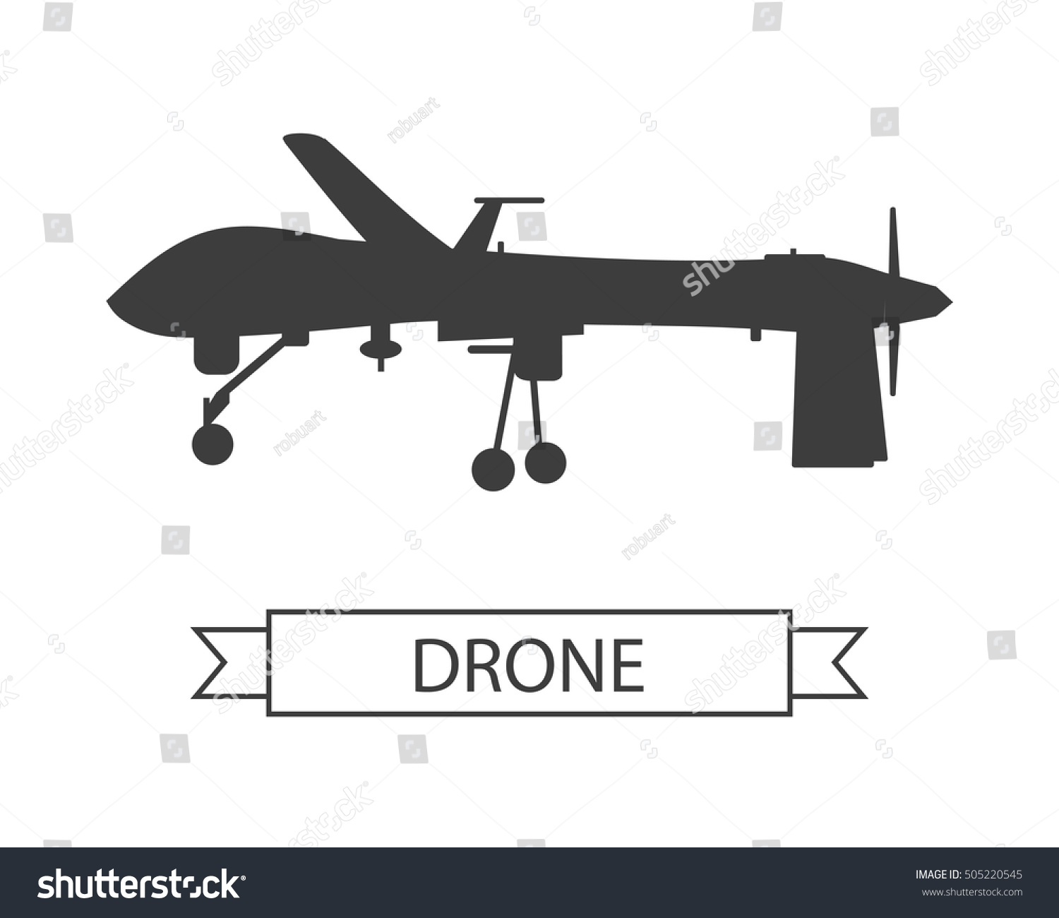 drone icon isolated on white unmanned stock vector 505220545 shutterstock. Black Bedroom Furniture Sets. Home Design Ideas