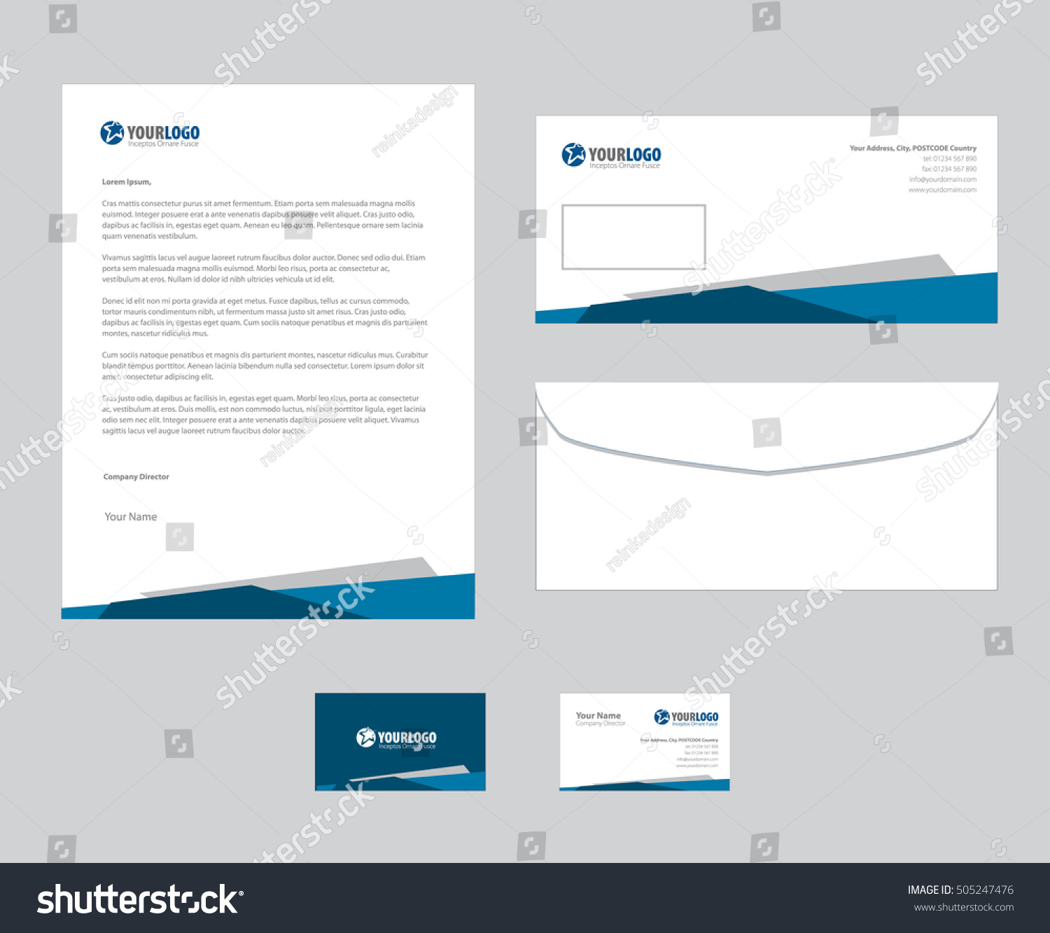 set vector corporate identity templates modern stock vector royalty