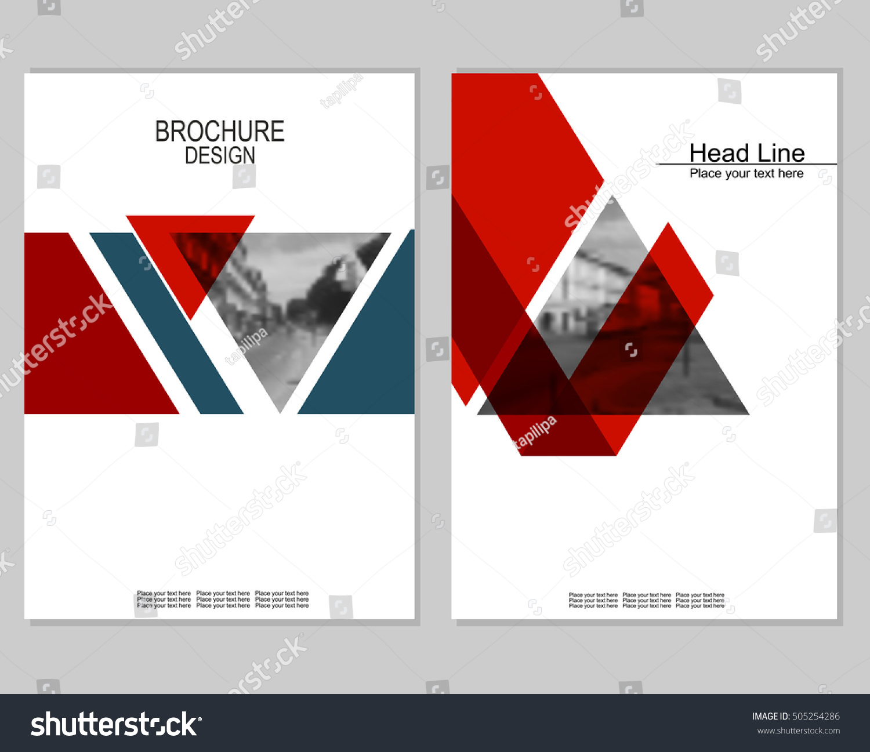 Vector Brochure Cover Templates Blurred Cityscape Vector de stock ...