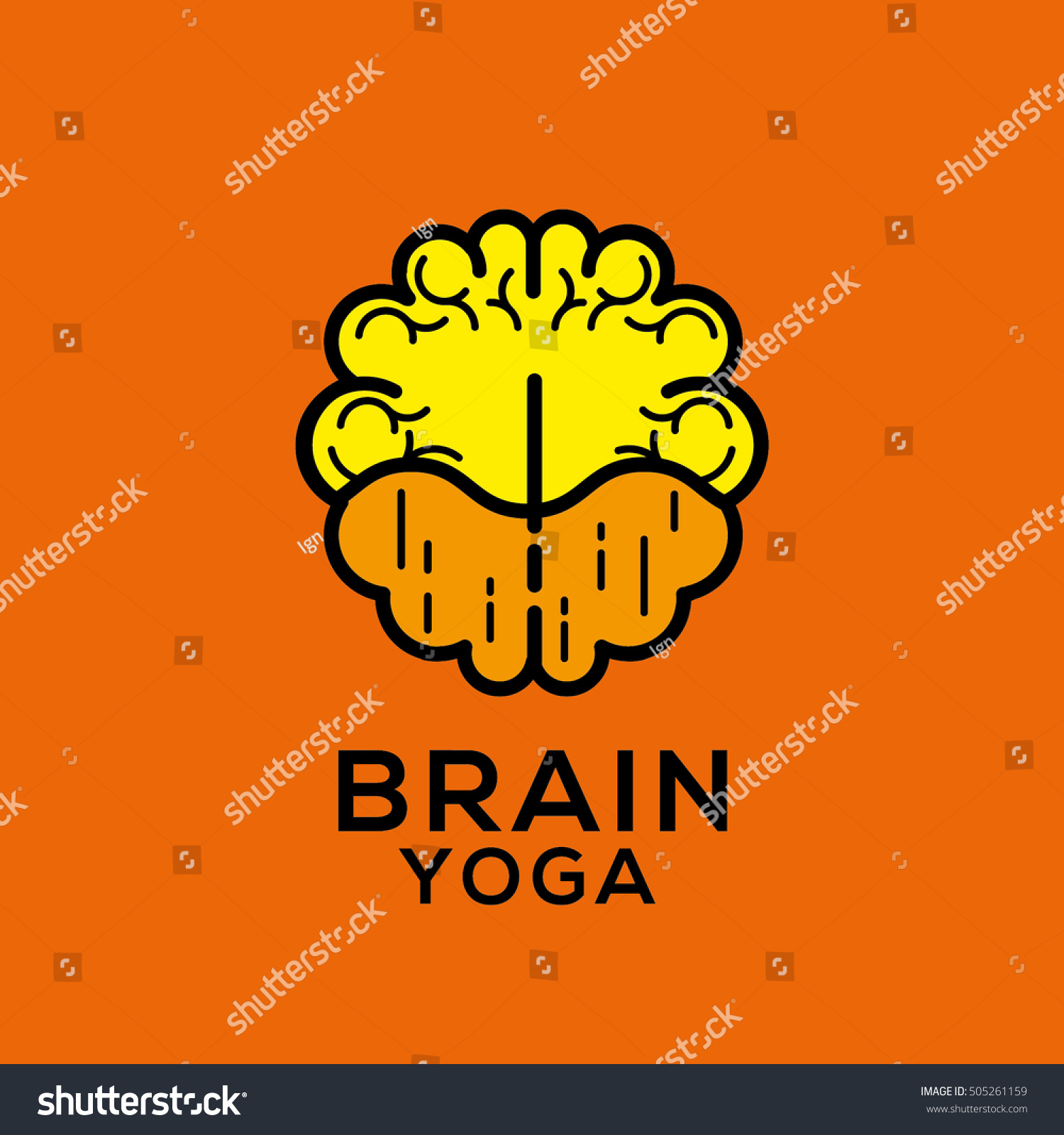 Brain Yoga Vector Logo Stock Vector Royalty Free 505261159