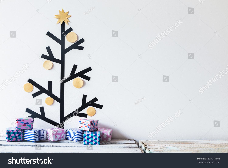 Washi Tape Christmas Tree Decoration Tiny Stock Photo (Edit Now ...