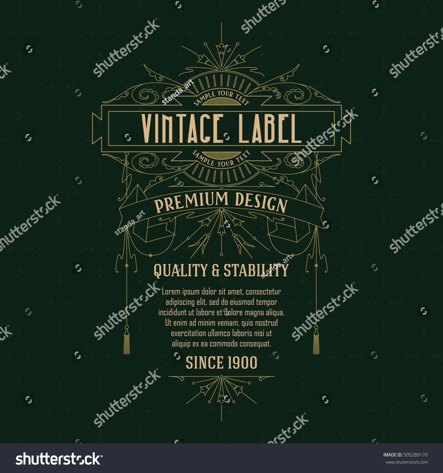 Old Vintage Card Floral Ornament Vector Stock Vector Royalty Free