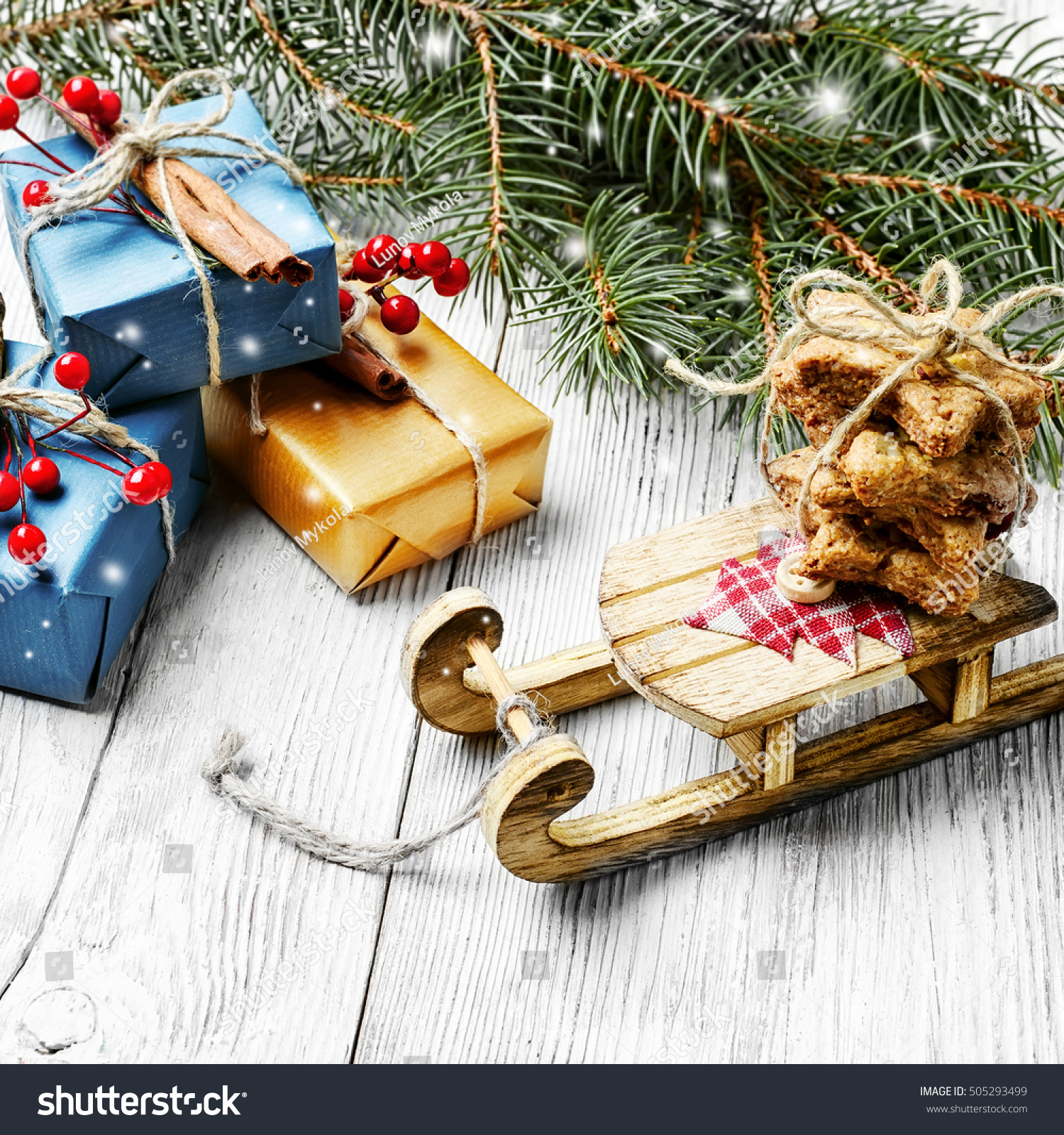 Christmas Card Old Fashioned Christmas Sleigh Stock Photo (Edit Now ...