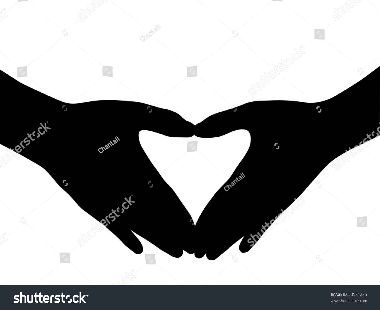 Two Hands Symbol Love Stock Vector Royalty Free 50531236